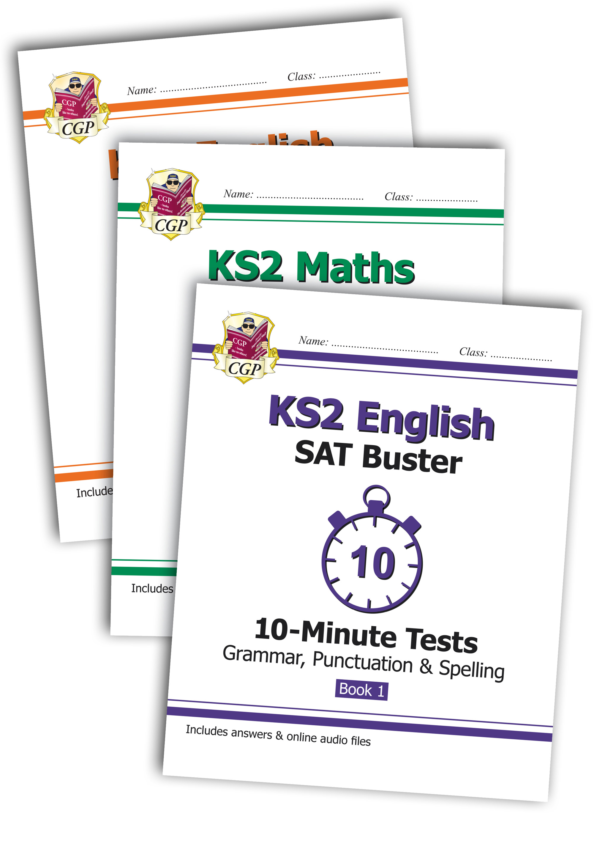 EMXB23 - The Complete KS2 Maths and English 10-Minute Test SAT Buster Book 1 Bundle (for the 2019 te