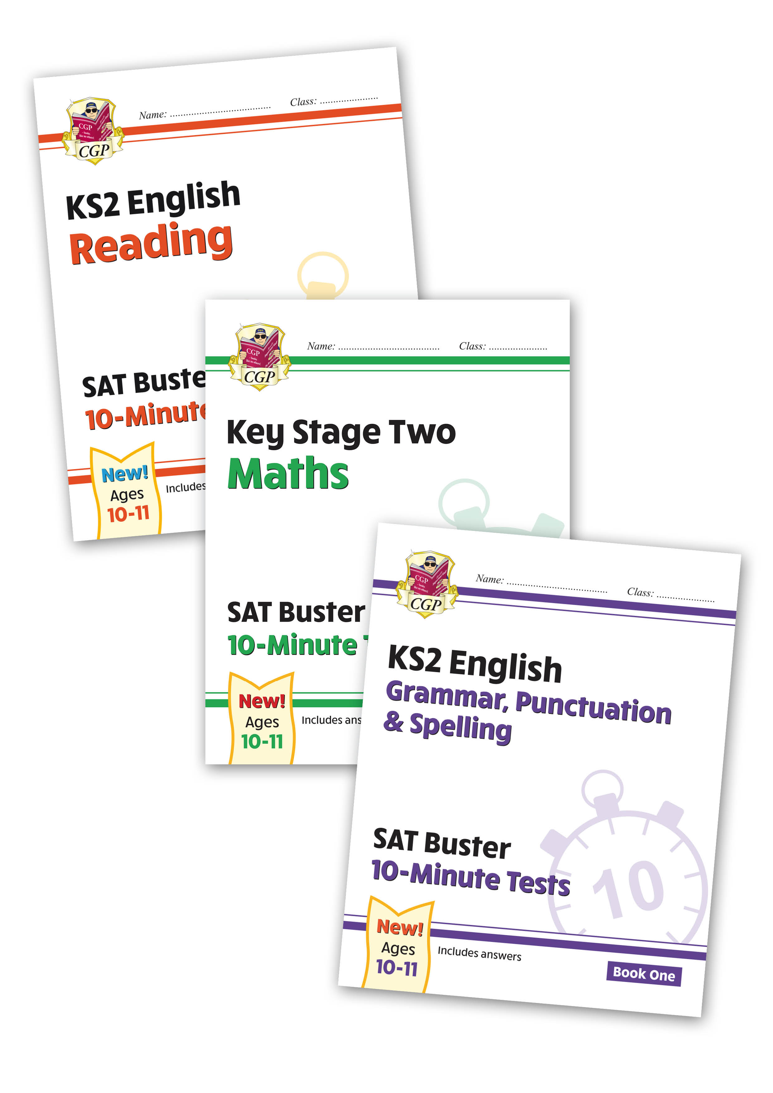 EMXB24 - New Complete KS2 Maths and English 10-Minute Test SAT Buster Book 1 Bundle (for the 2021 te