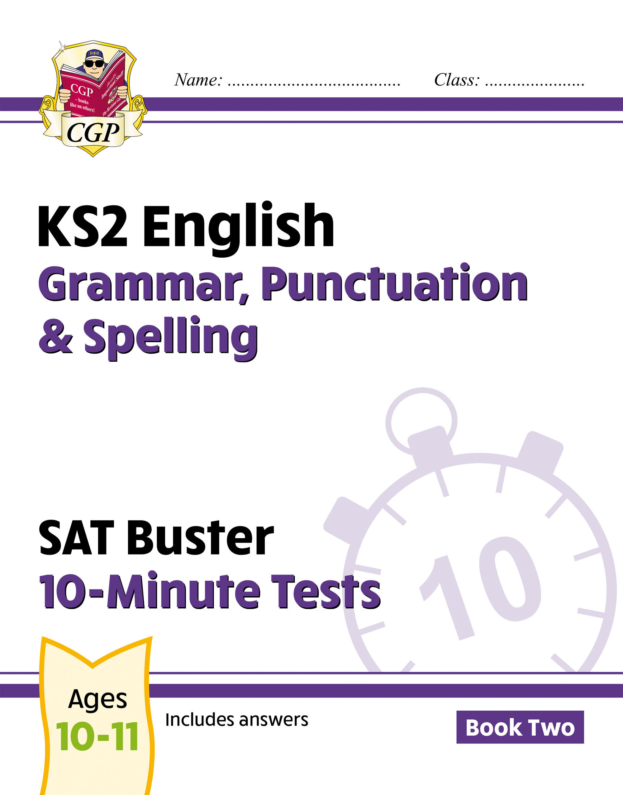 EXPG222DK - New KS2 English SAT Buster 10-Minute Tests: Grammar, Punctuation & Spelling - Book 2 (fo