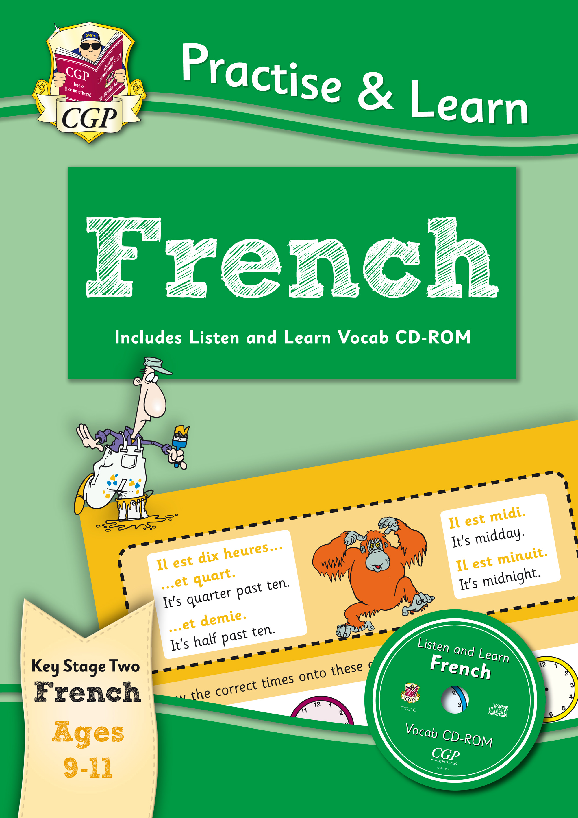FP6Q22 - Practise & Learn: French for Ages 9-11 - with vocab CD-ROM