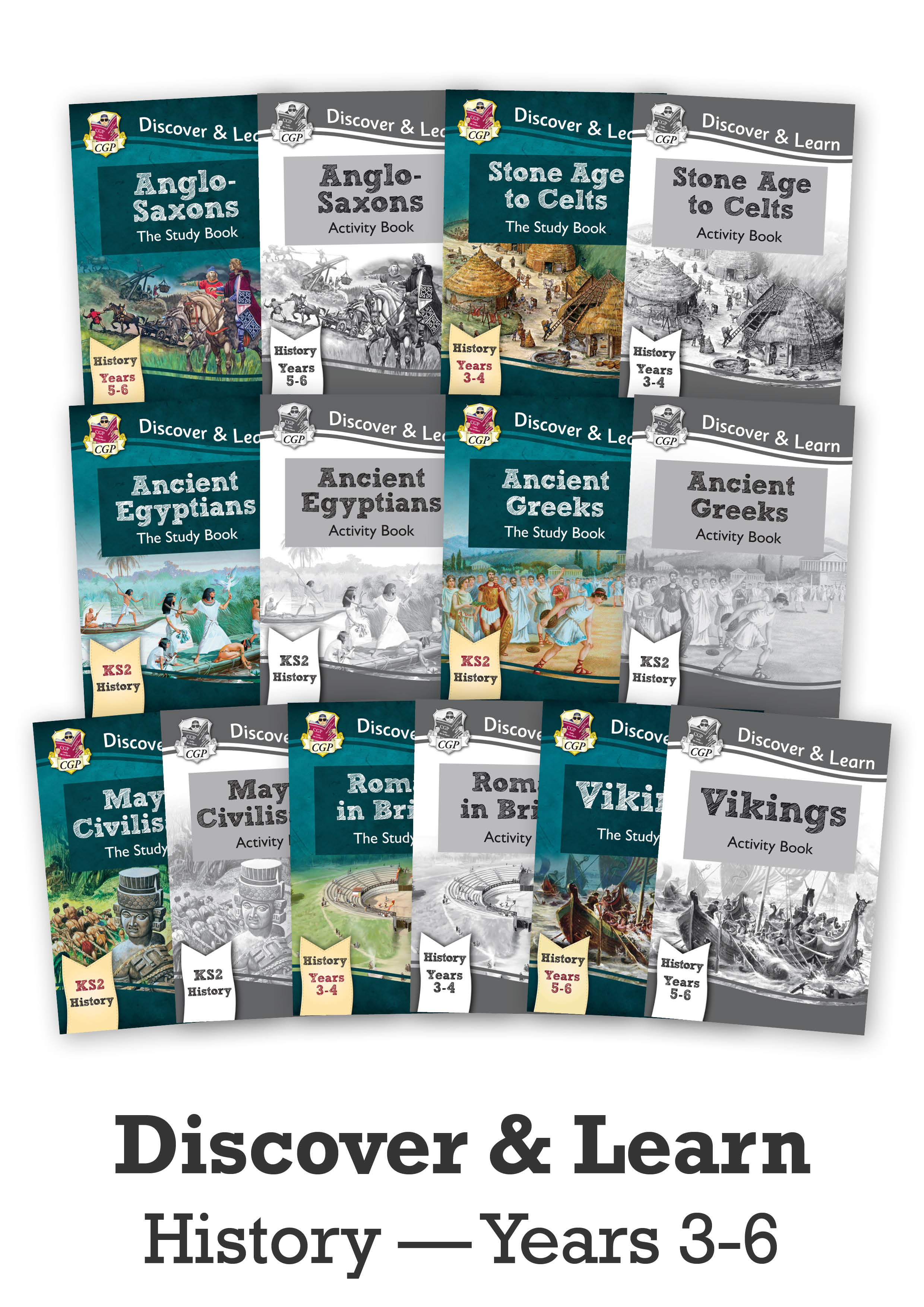 HMEB21 - KS2 Discover & Learn: History - Complete 14 Book Bundle (for years 3 - 6)