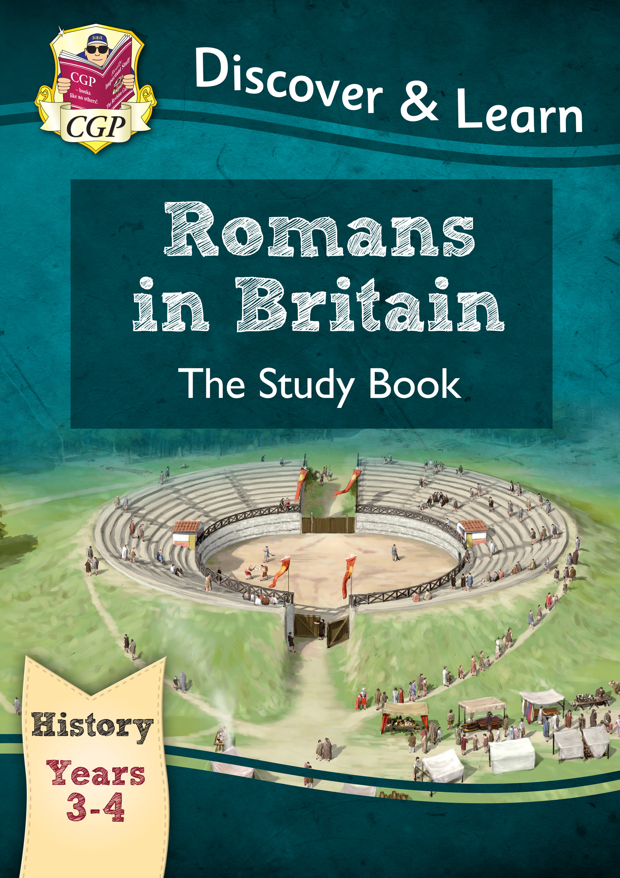 HRR21 - KS2 Discover & Learn: History - Romans in Britain Study Book, Year 3 & 4