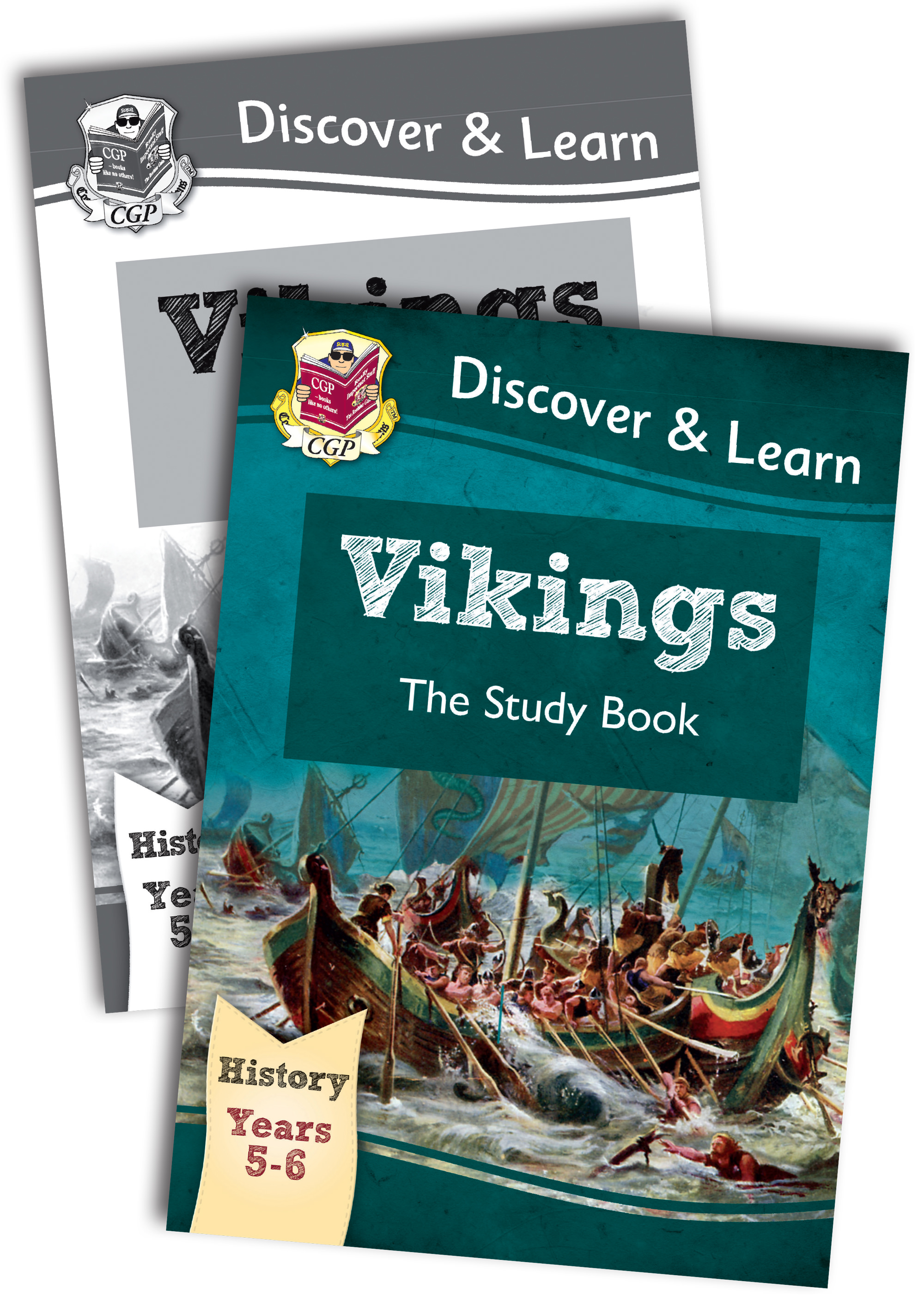 HVB22 - KS2 Discover & Learn: History - Vikings Study Book Bundle
