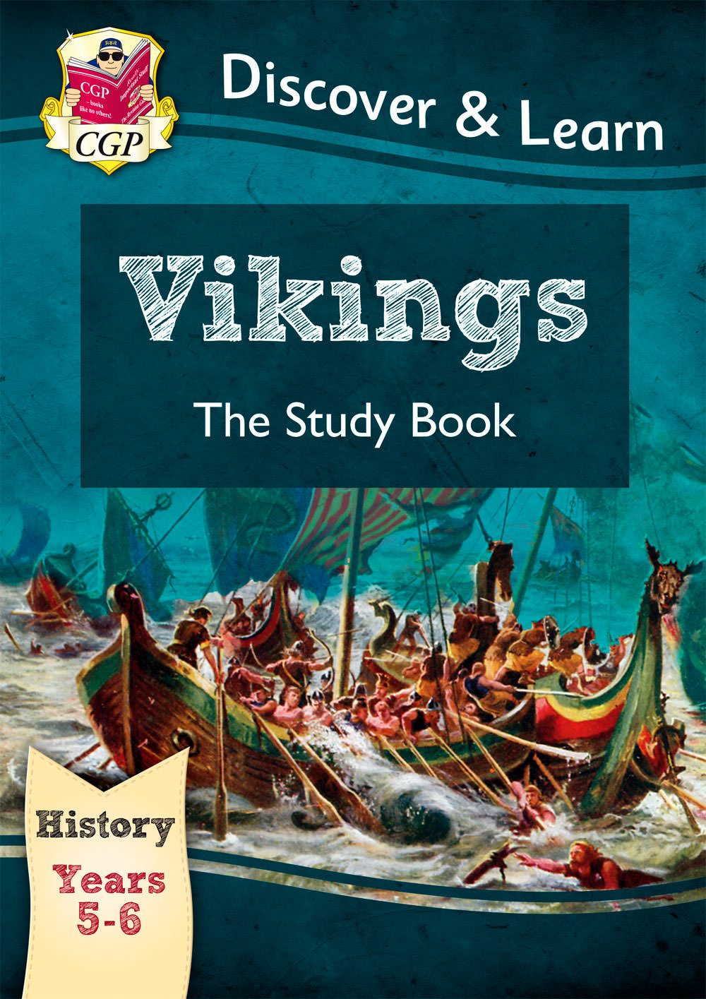 HVR21 - KS2 Discover & Learn: History - Vikings Study Book, Year 5 & 6