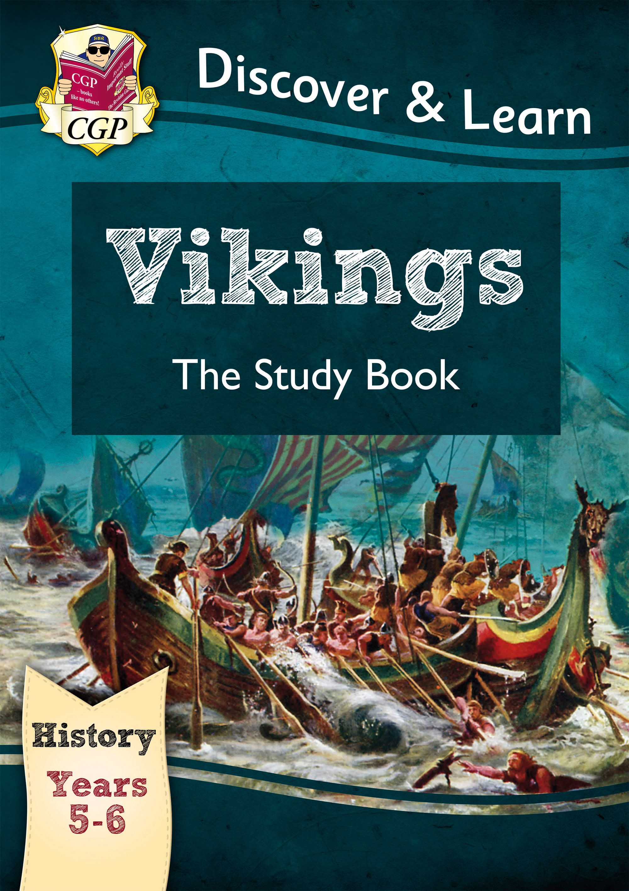 HVR21DK - KS2 Discover & Learn: History - Vikings Study Book, Year 5 & 6