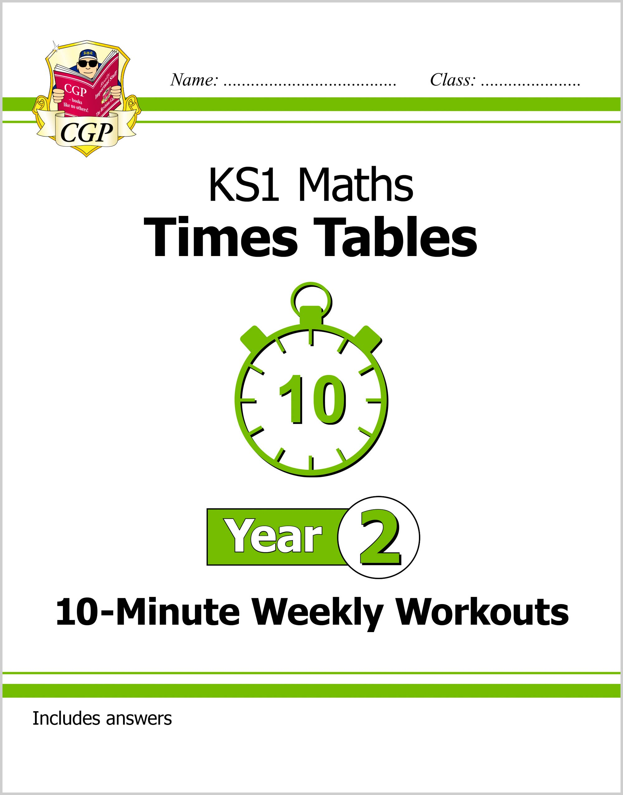 M2TXW11DK - New KS1 Maths: Times Tables 10-Minute Weekly Workouts - Year 2