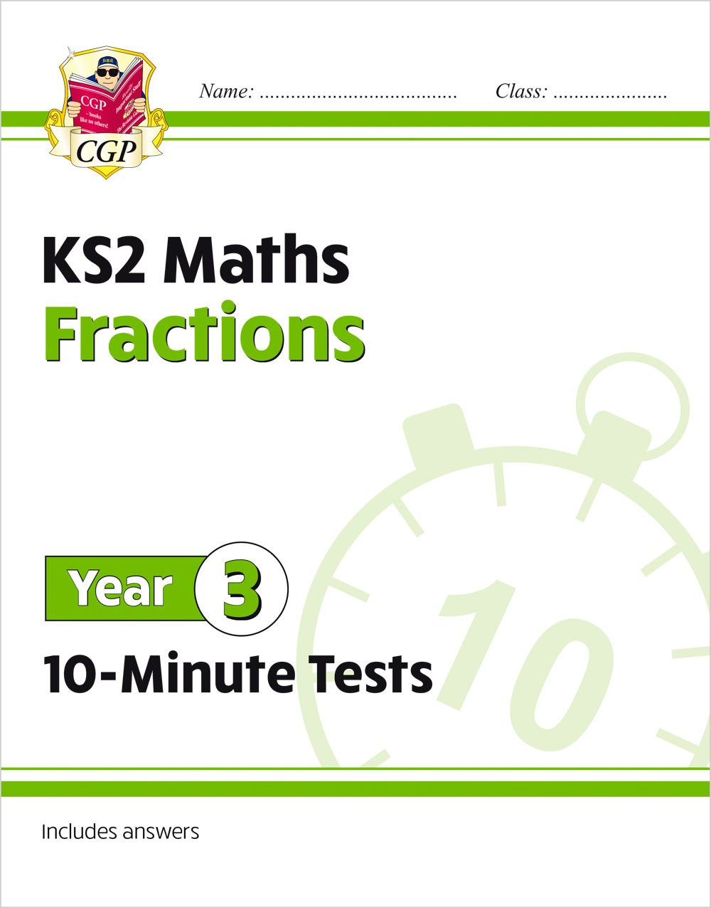 M3FRXP21 - New KS2 Maths 10-Minute Tests: Fractions - Year 3