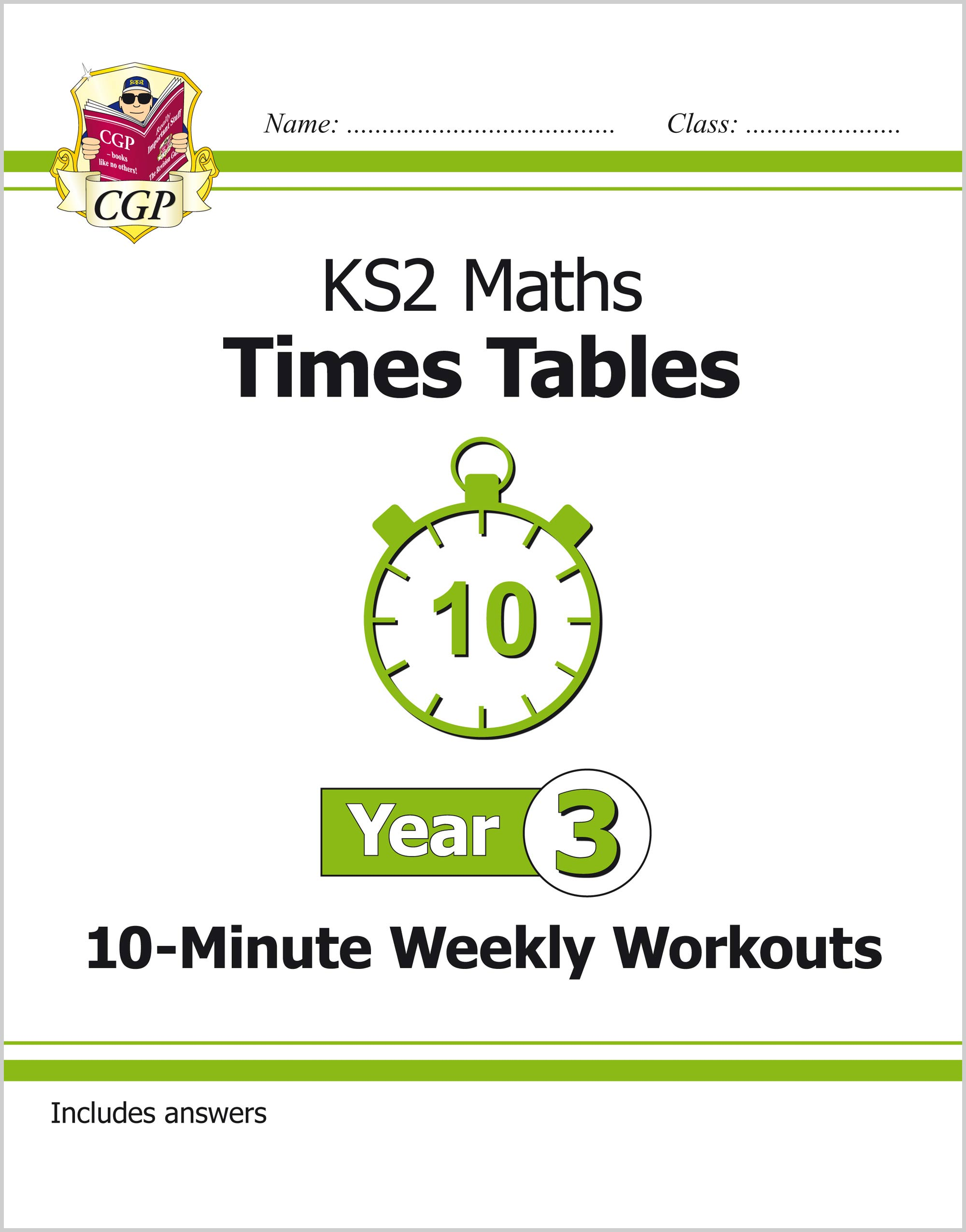 M3TXW21 - New KS2 Maths: Times Tables 10-Minute Weekly Workouts - Year 3