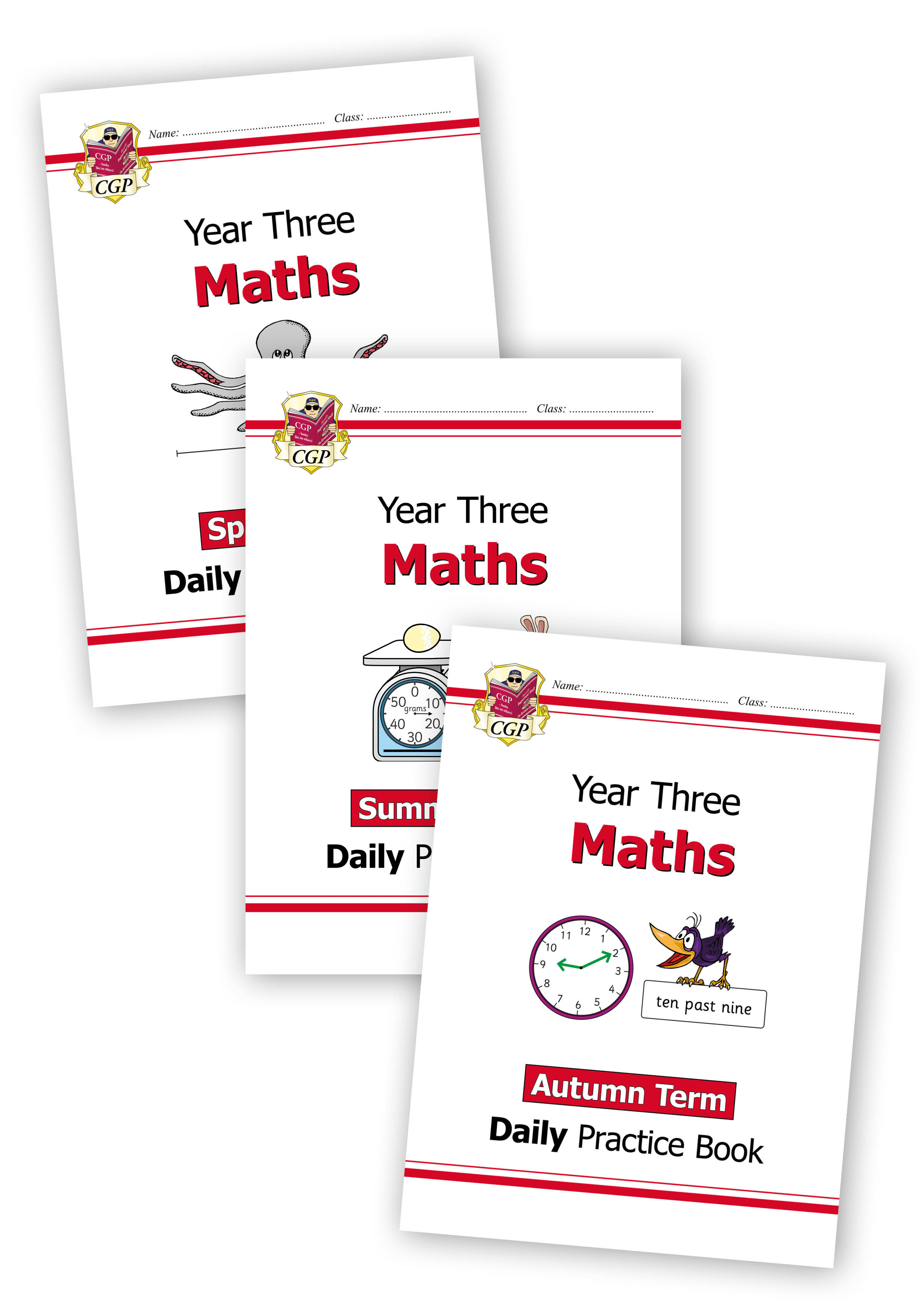 M3WB21 - New KS2 Maths Daily Practice Book Bundle: Year 3 - Autumn Term, Spring Term & Summer Term