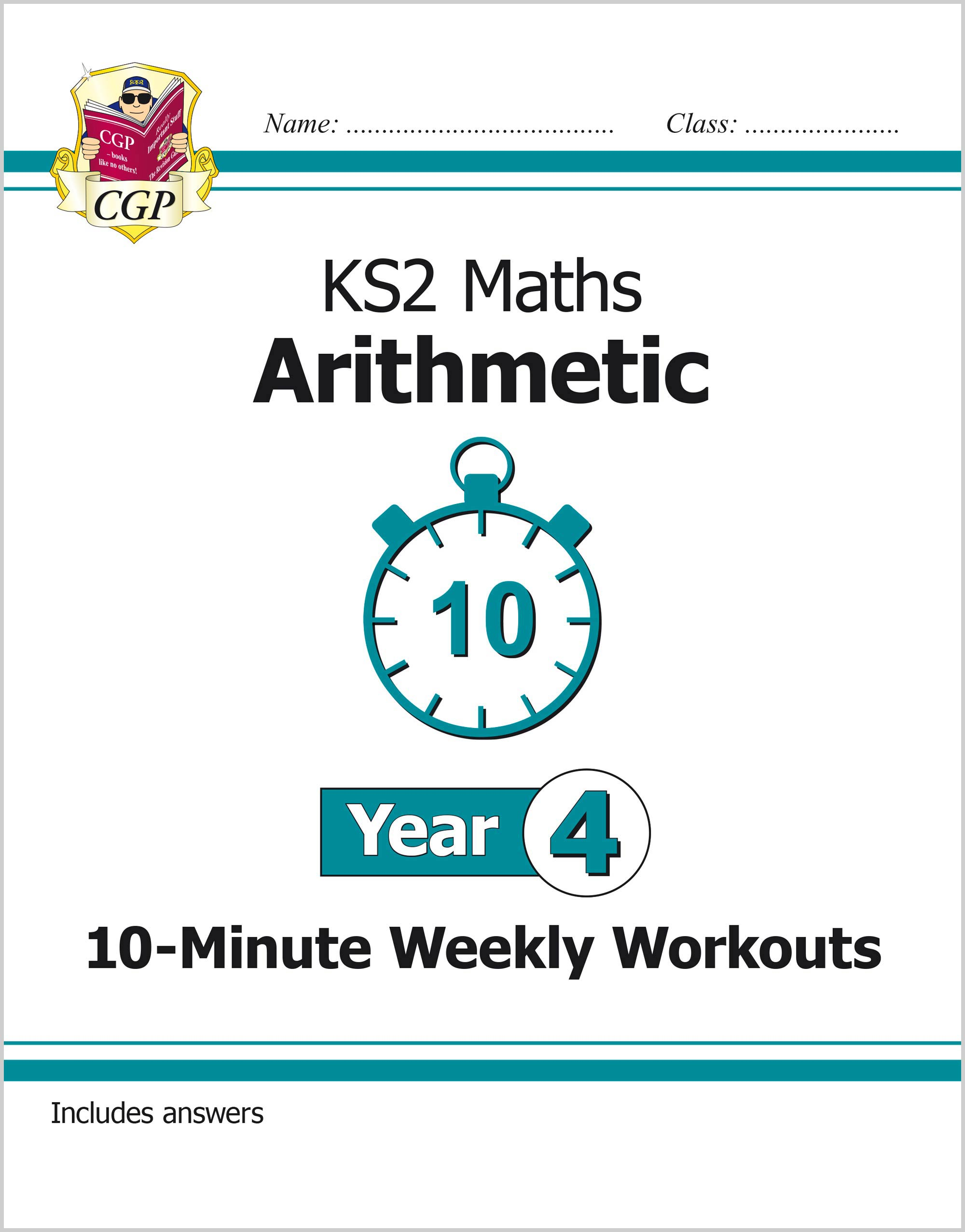 M4ARXW21 - New KS2 Maths 10-Minute Weekly Workouts: Arithmetic - Year 4