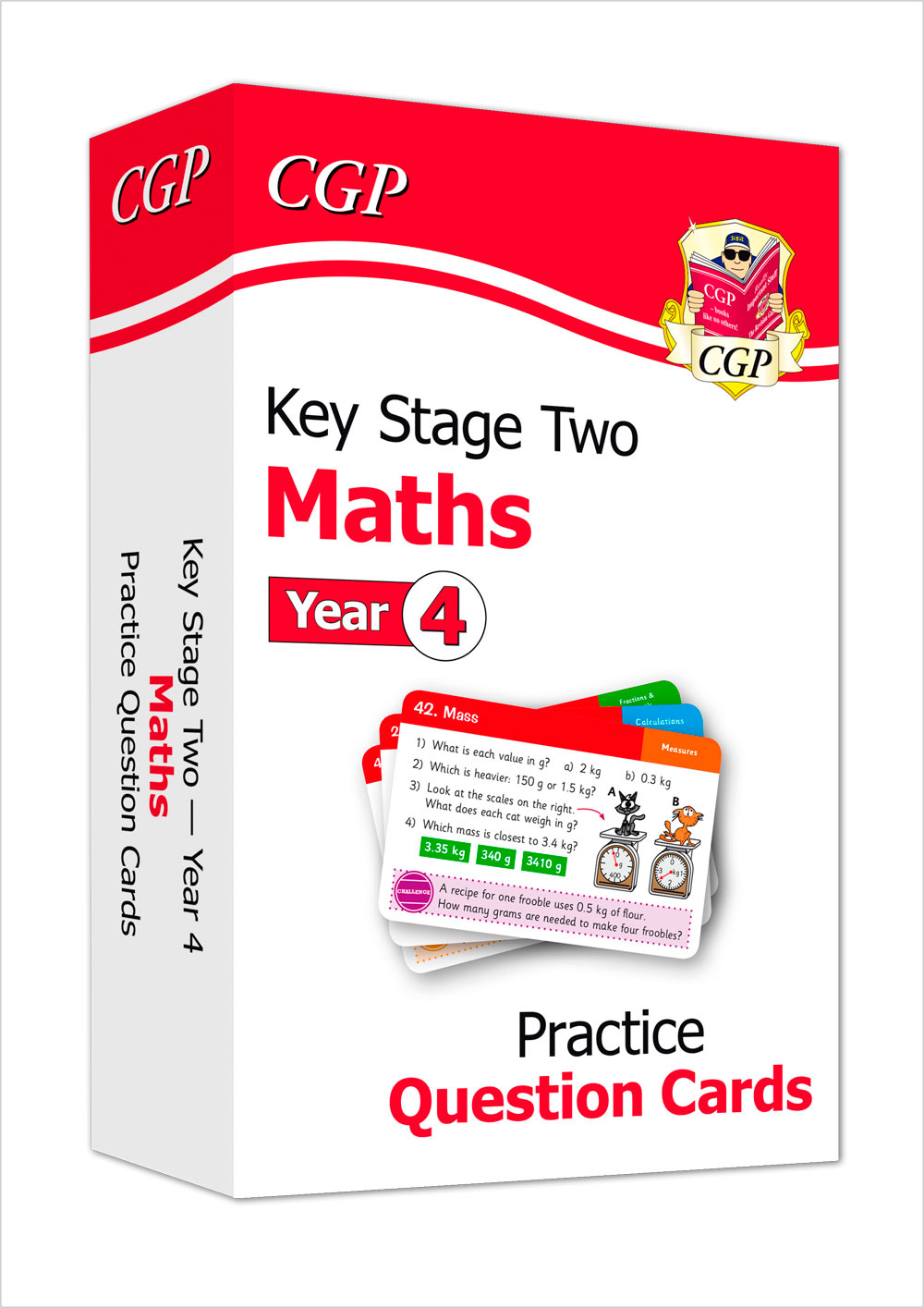 M4F21 - New KS2 Maths Practice Question Cards - Year 4