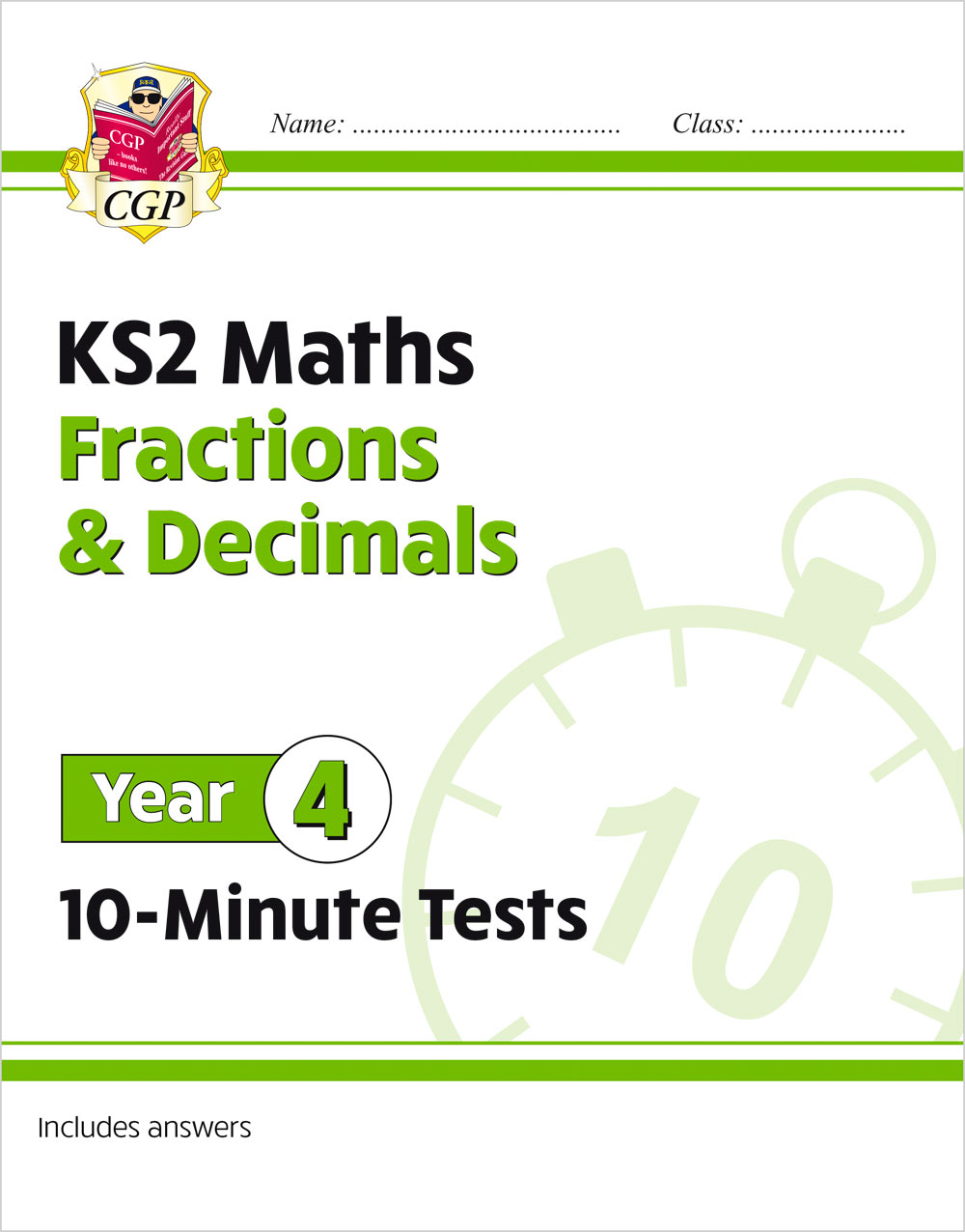 M4FDXP21 - New KS2 Maths 10-Minute Tests: Fractions & Decimals - Year 4