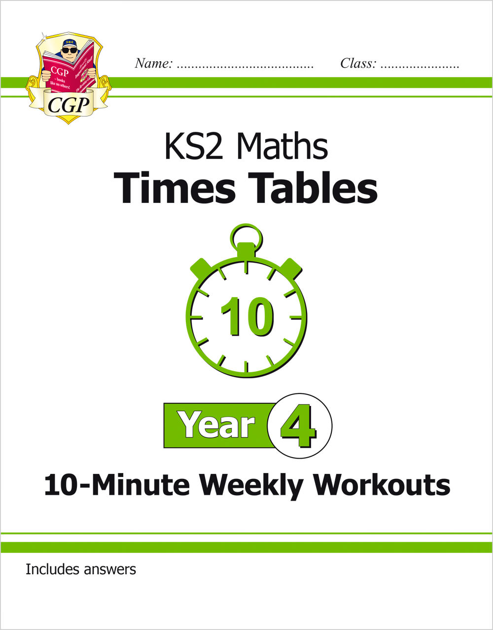 M4TXW21 - KS2 Maths: Times Tables 10-Minute Weekly Workouts - Year 4