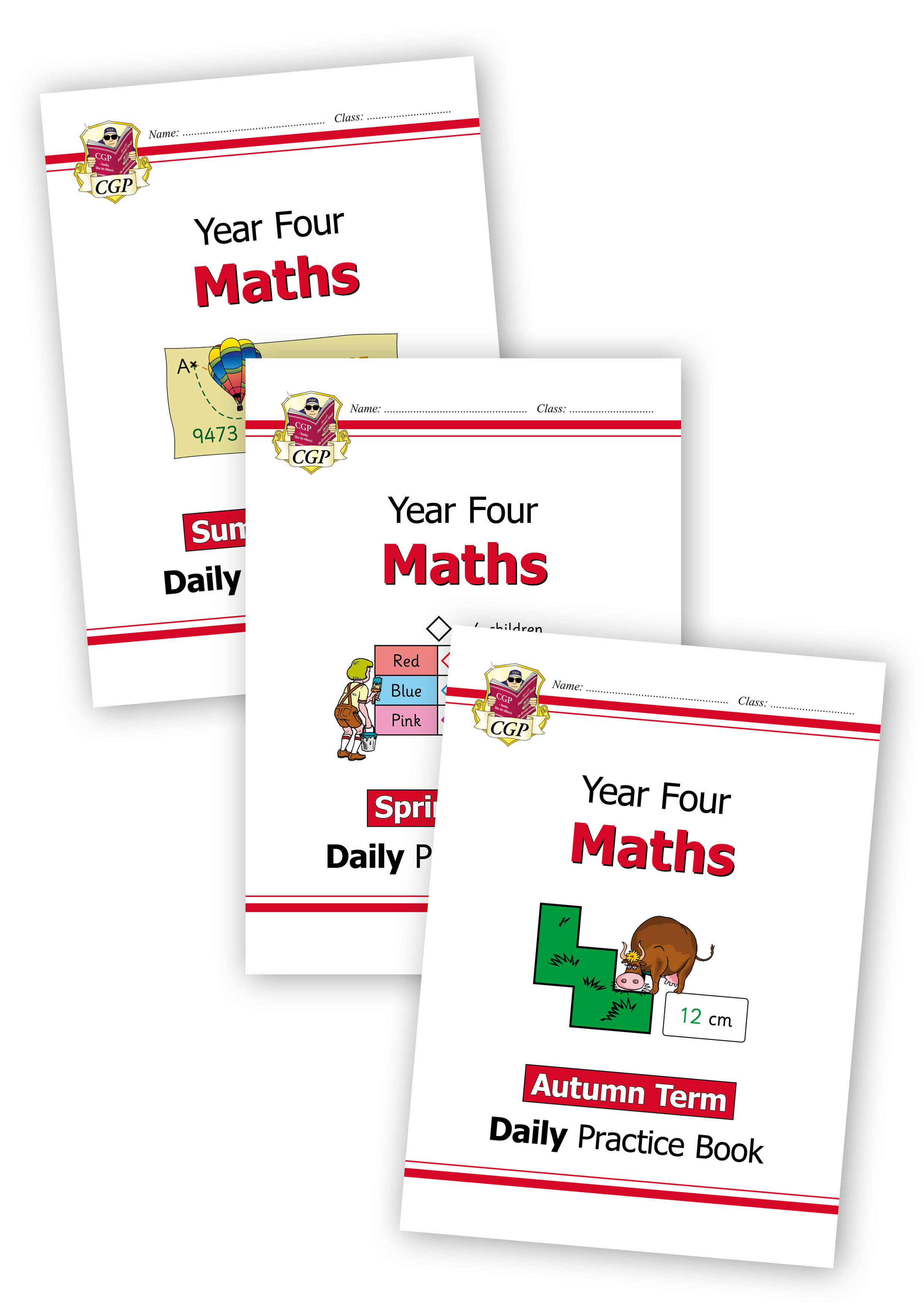 M4WB21 - New KS2 Maths Daily Practice Book Bundle: Year 4 - Autumn Term, Spring Term & Summer Term