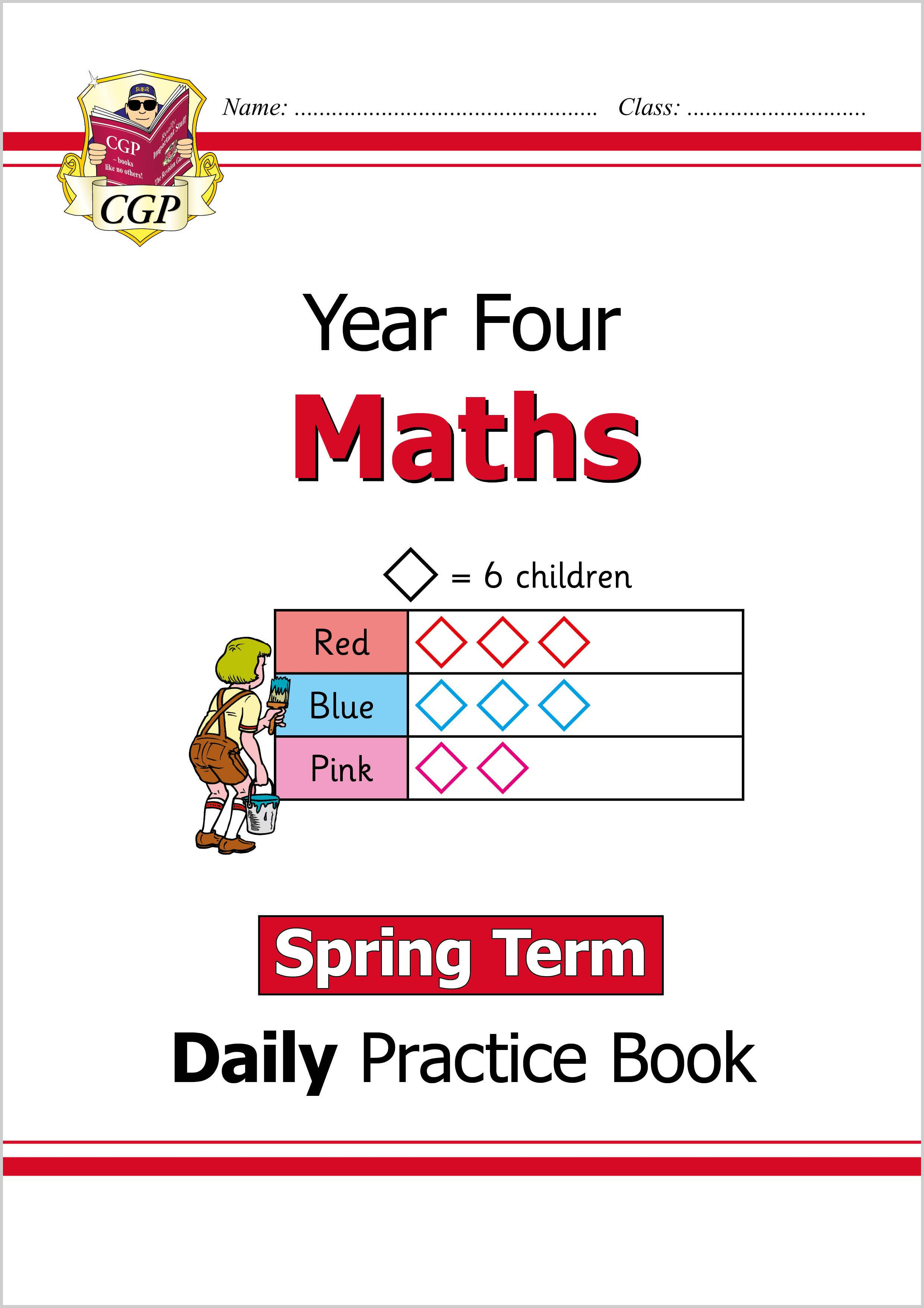 M4WSP21 - New KS2 Maths Daily Practice Book: Year 4 - Spring Term