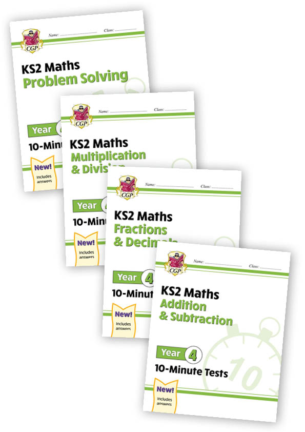M4XB21 - Year 4 Maths 10-Minute Tests bundle