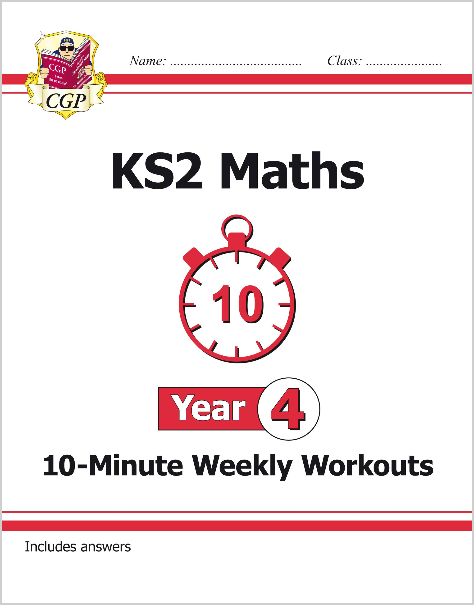 M4XW21 - KS2 Maths 10-Minute Weekly Workouts - Year 4