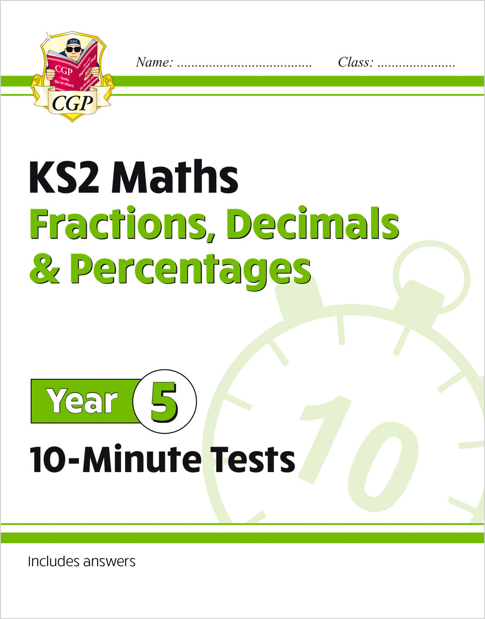 M5FDPXP21 - New KS2 Maths 10-Minute Tests: Fractions, Decimals & Percentages - Year 5