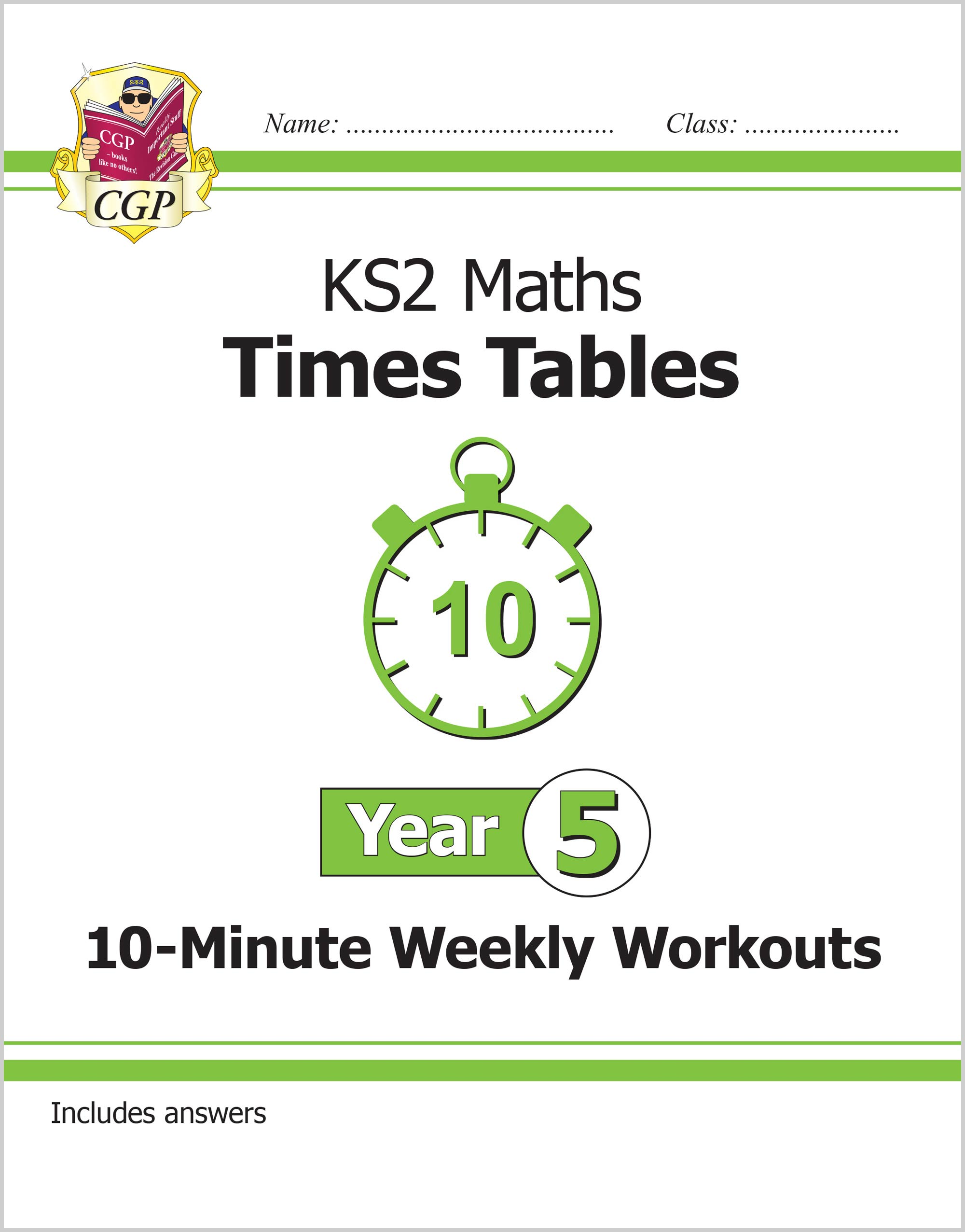 M5TXW21 - New KS2 Maths: Times Tables 10-Minute Weekly Workouts - Year 5
