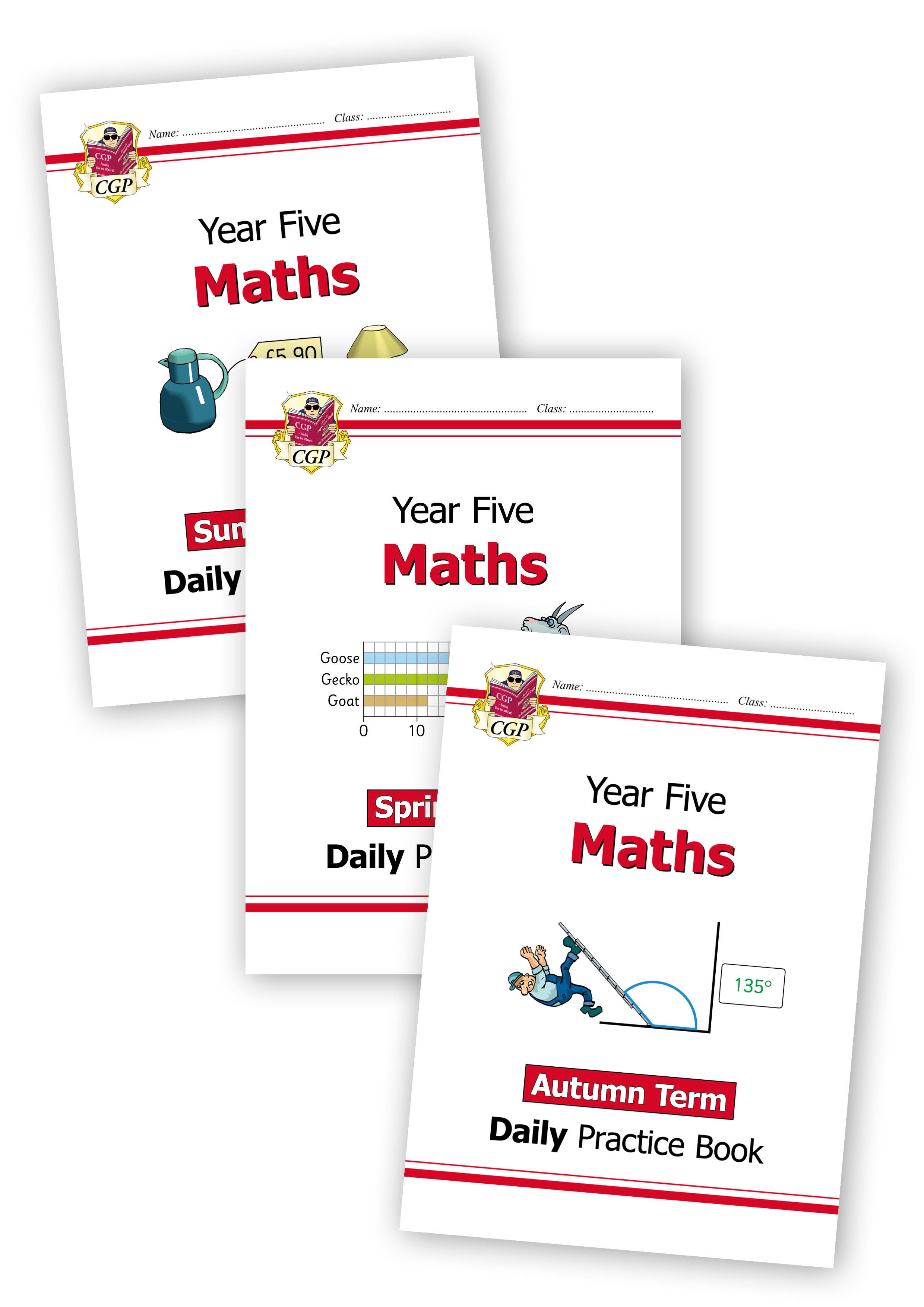 M5WB21 - New KS2 Maths Daily Practice Book Bundle: Year 5 - Autumn Term, Spring Term & Summer Term