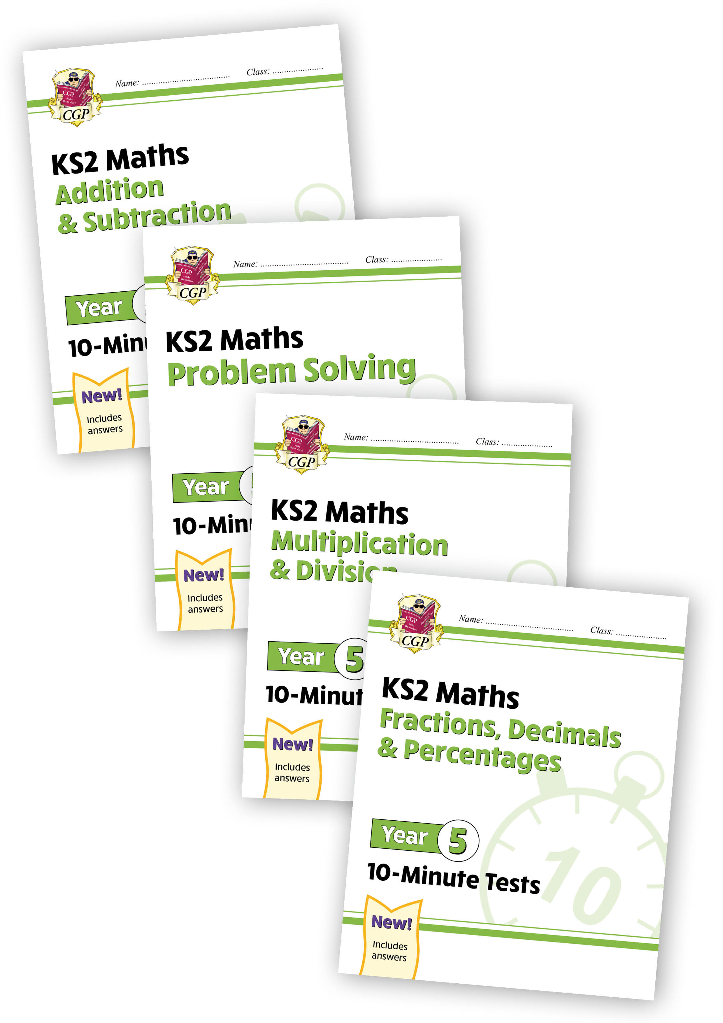 M5XB21 - Year 5 Maths 10-Minute Tests bundle