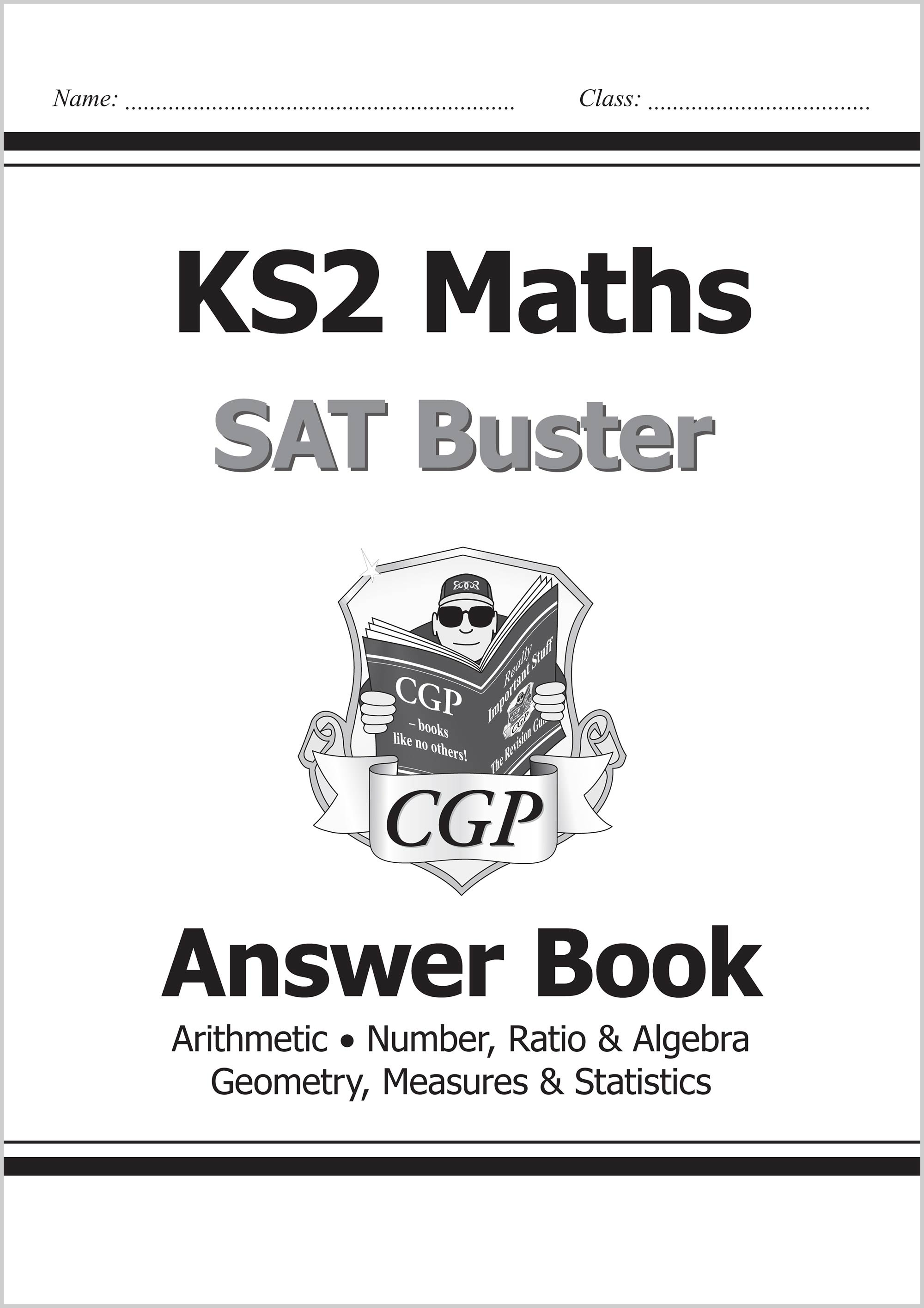 M6A23 - KS2 Maths SAT Buster: Answer Book 1 (for the 2019 tests)