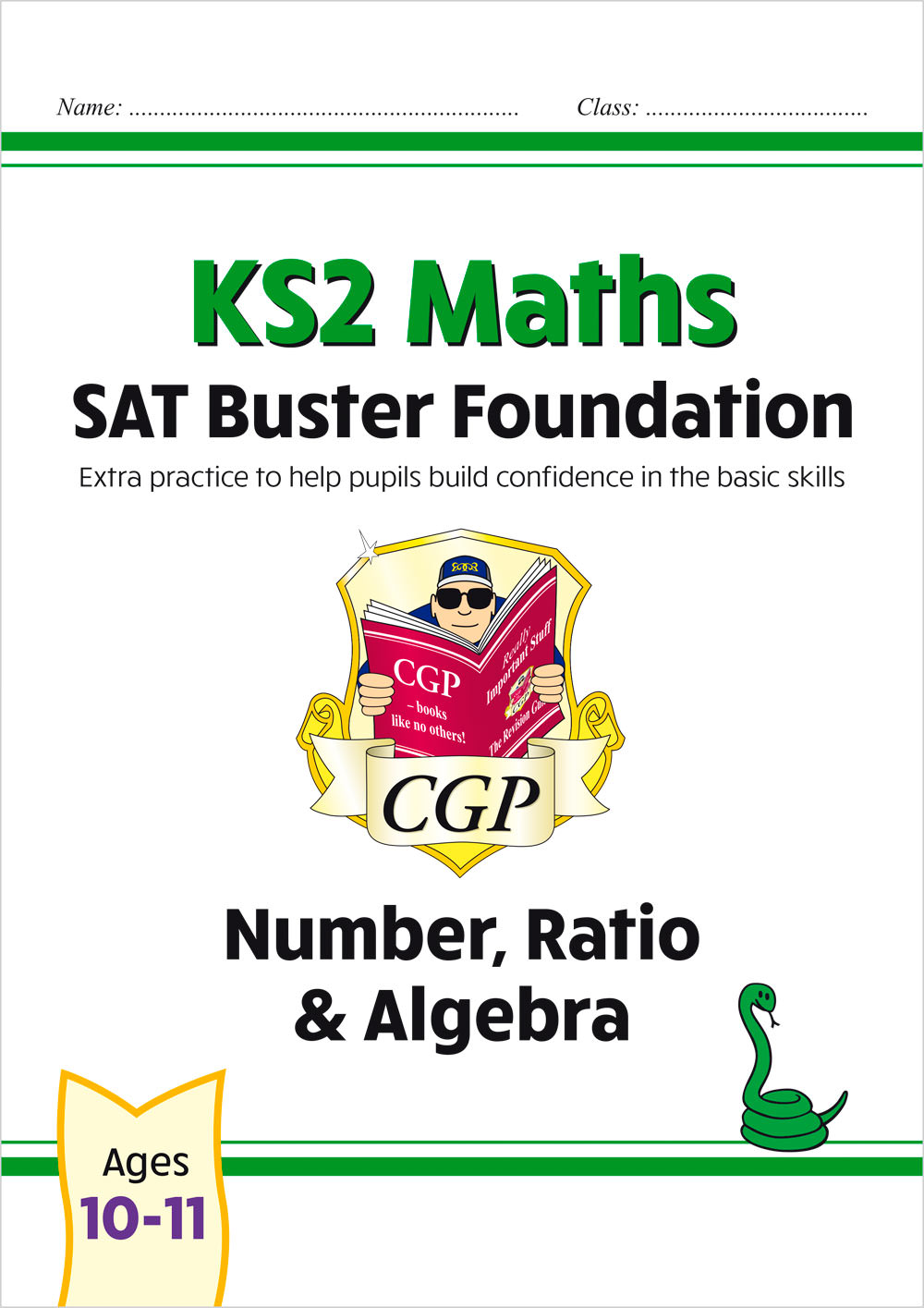 M6FN21 - New KS2 Maths SAT Buster Foundation: Number, Ratio & Algebra (for the 2020 tests)