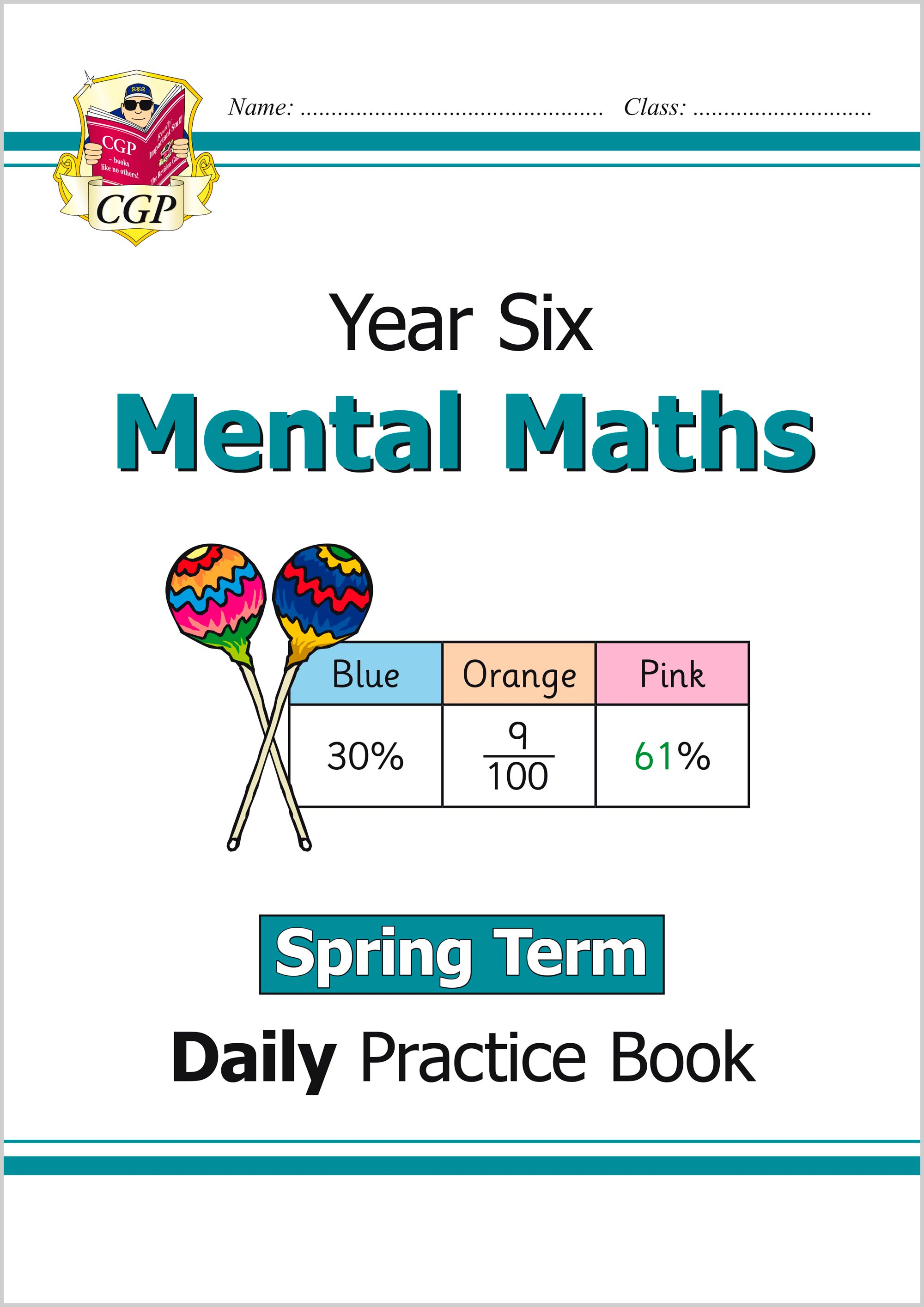 M6MWSP21 - New Mental Maths Daily Practice Book: Year 6 - Spring Term