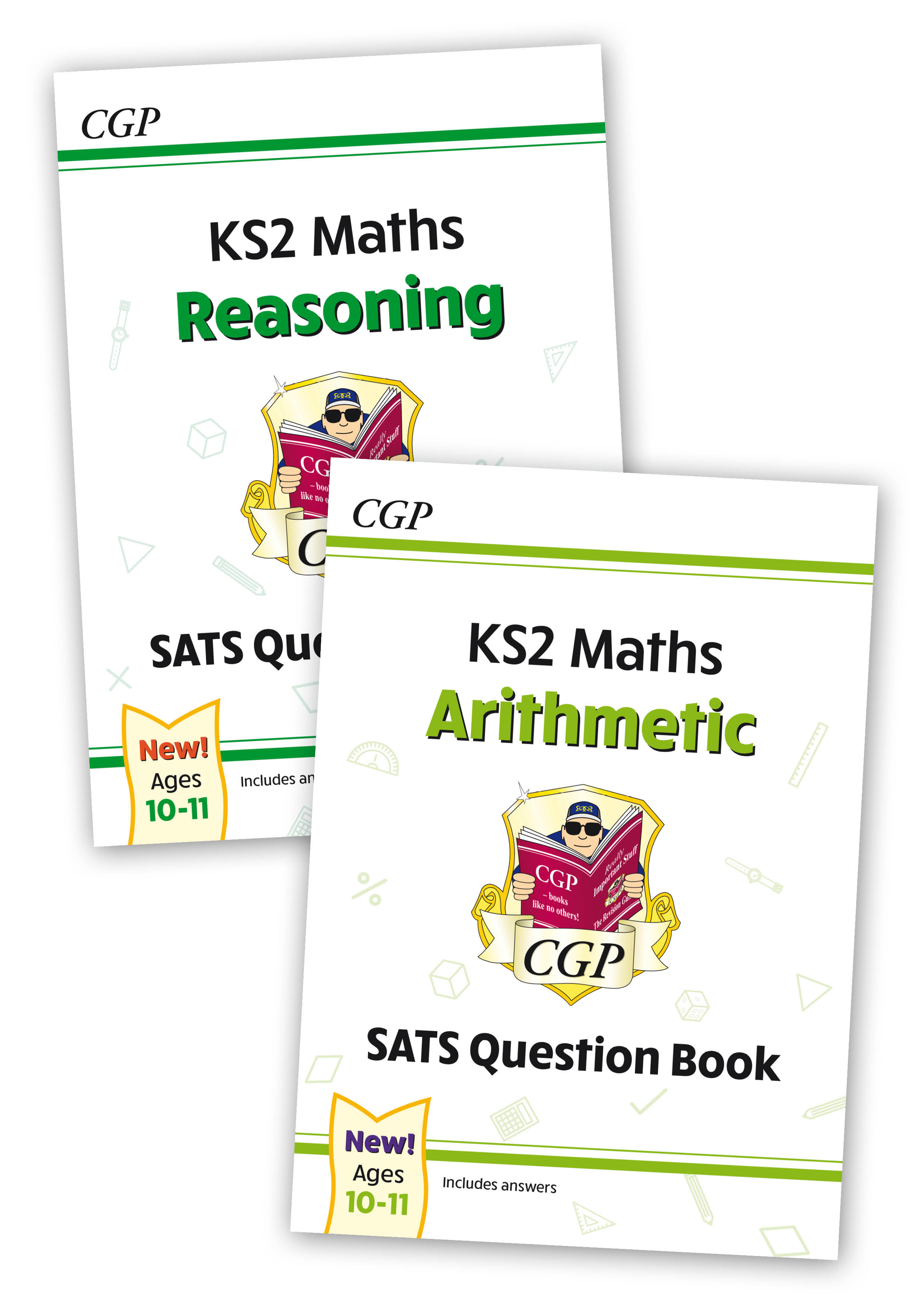 M6QB21 - New KS2 Maths SATS Question Books: Reasoning and Arithmetic 2-book Bundle (Ages 10-11)
