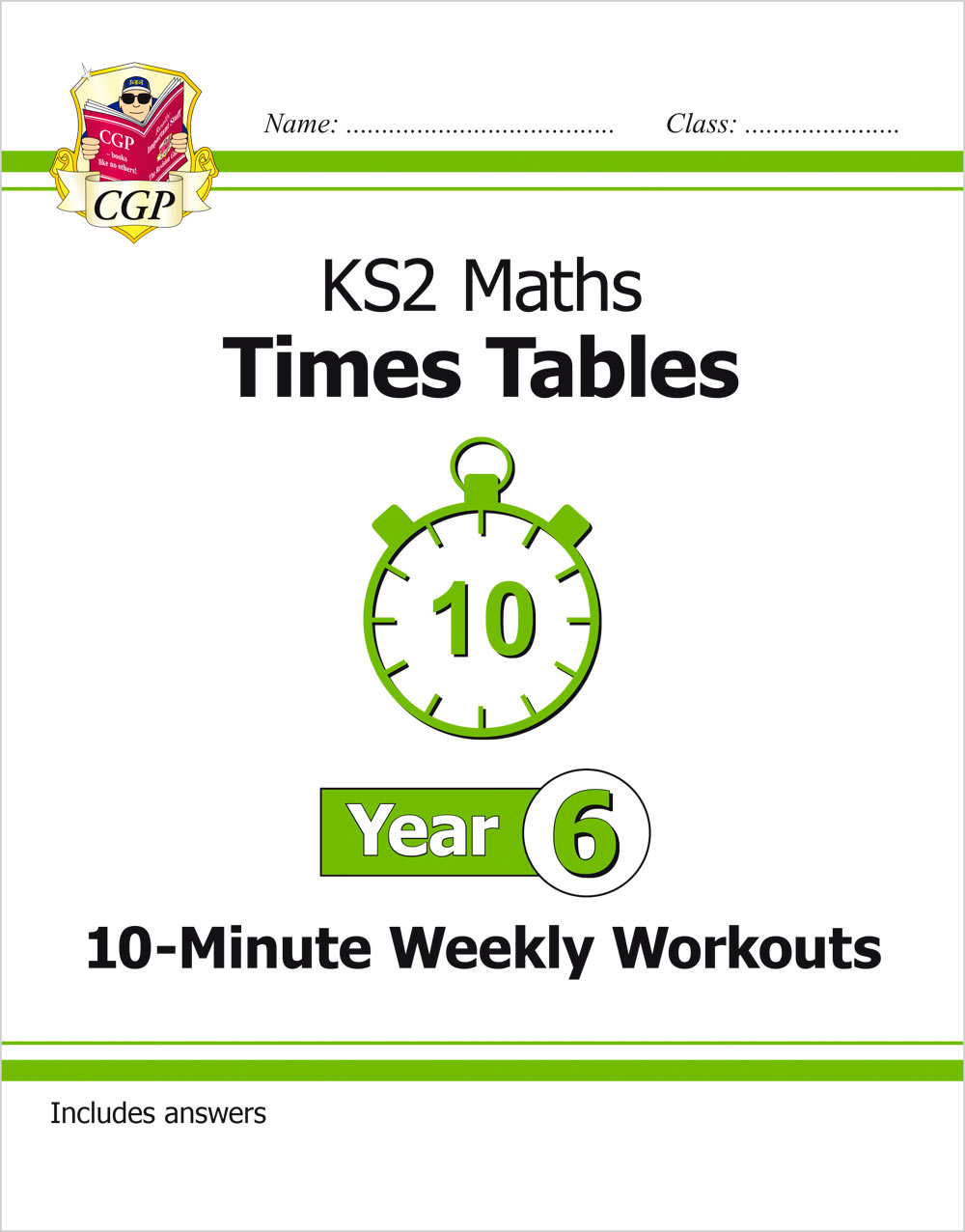 M6TXW21 - New KS2 Maths: Times Tables 10-Minute Weekly Workouts - Year 6