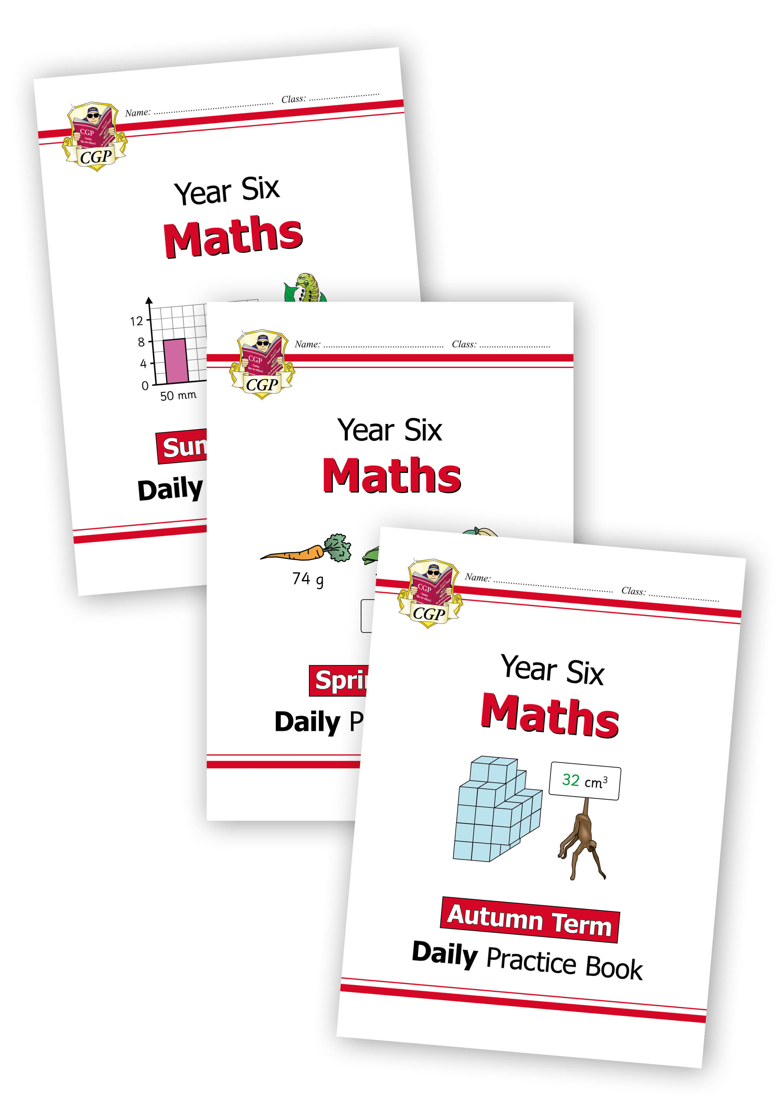 M6WB21 - New KS2 Maths Daily Practice Book Bundle: Year 6 - Autumn Term, Spring Term & Summer Term