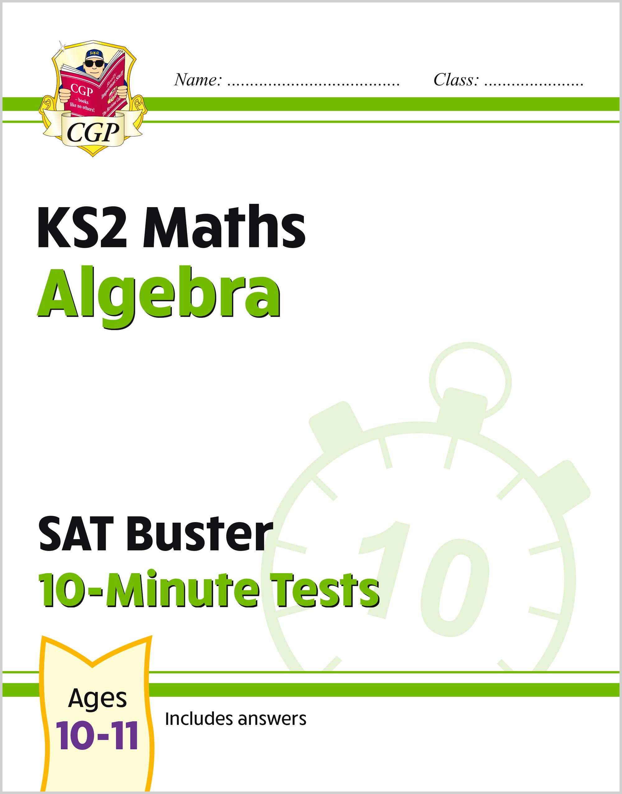 MAXP21 - New KS2 Maths SAT Buster 10-Minute Tests - Algebra (for the 2020 tests)