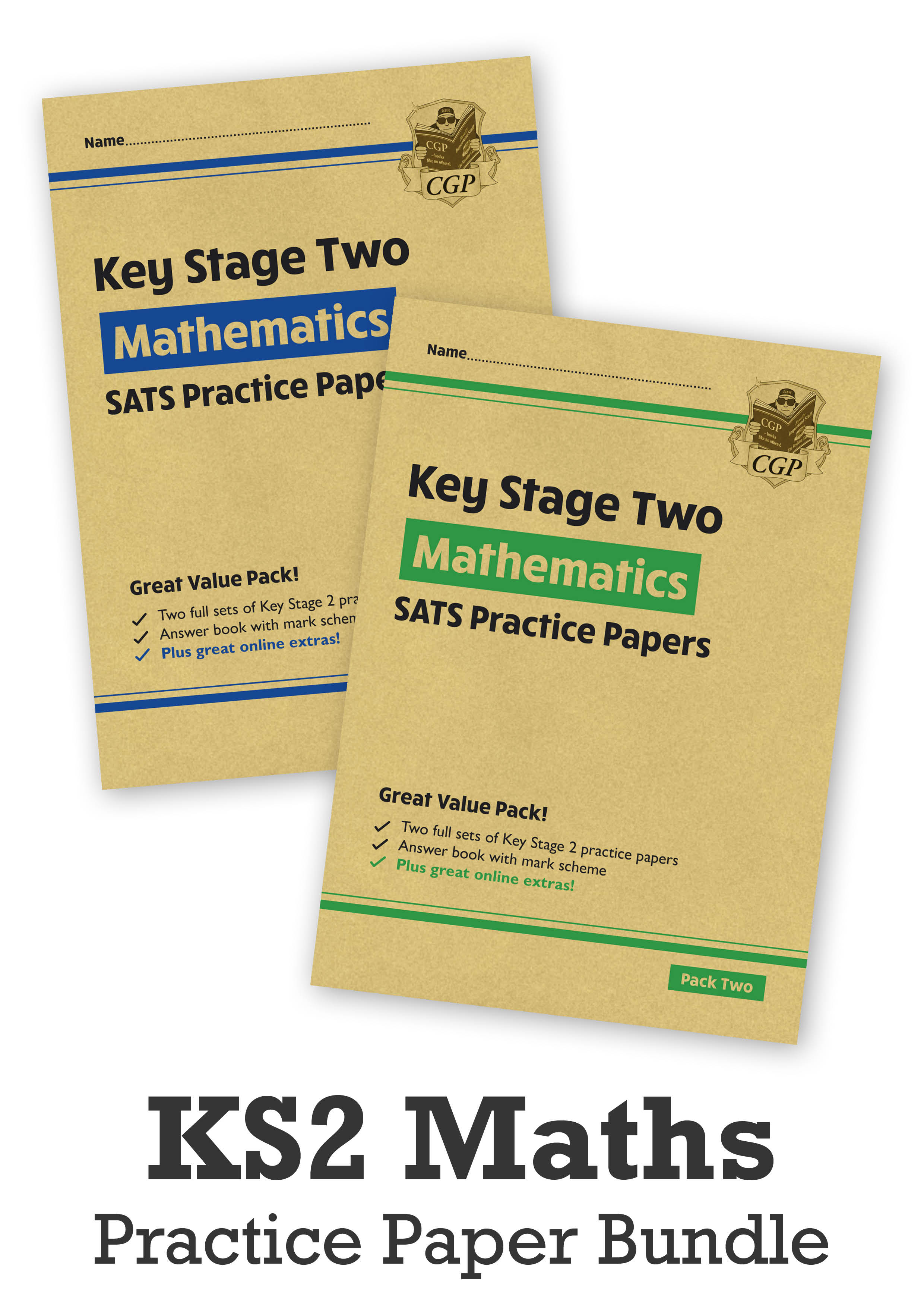 MHB2P24 - KS2 Maths SATS Practice Paper Bundle: Pack 1 & 2 - for the 2021 tests (with Online Extras)