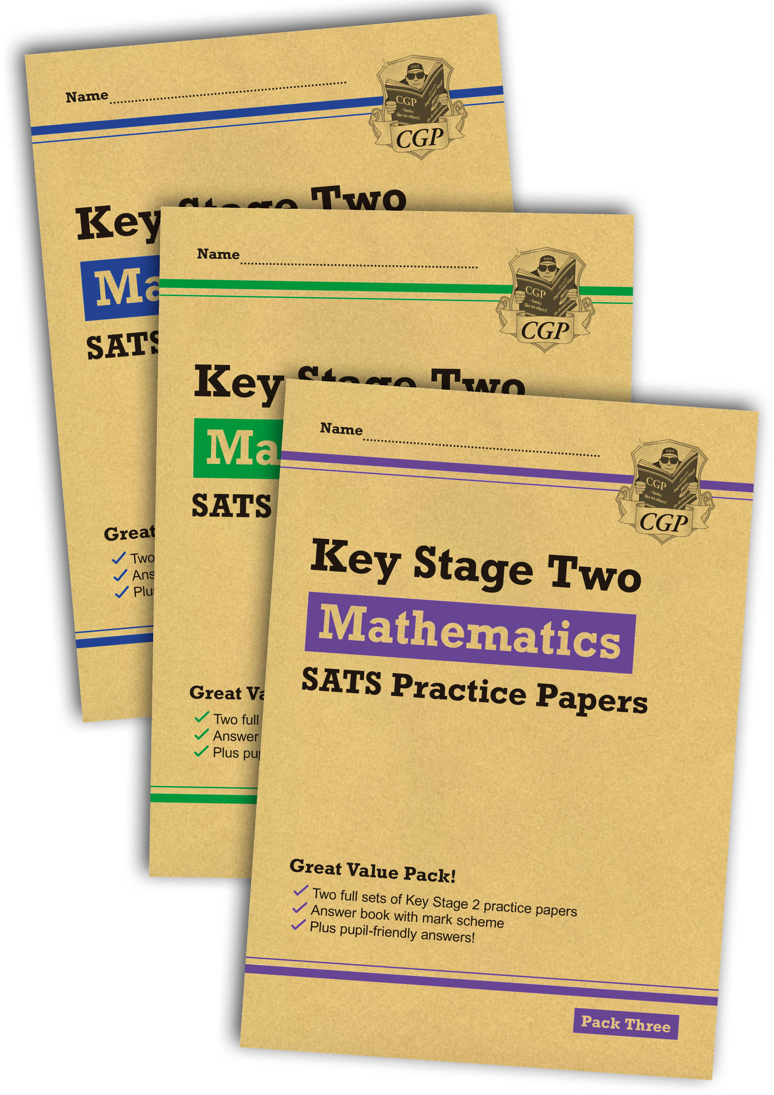 MHB3P23 - New KS2 Maths SATS Practice Paper Bundle: Packs 1, 2 & 3 (for the 2019 tests)