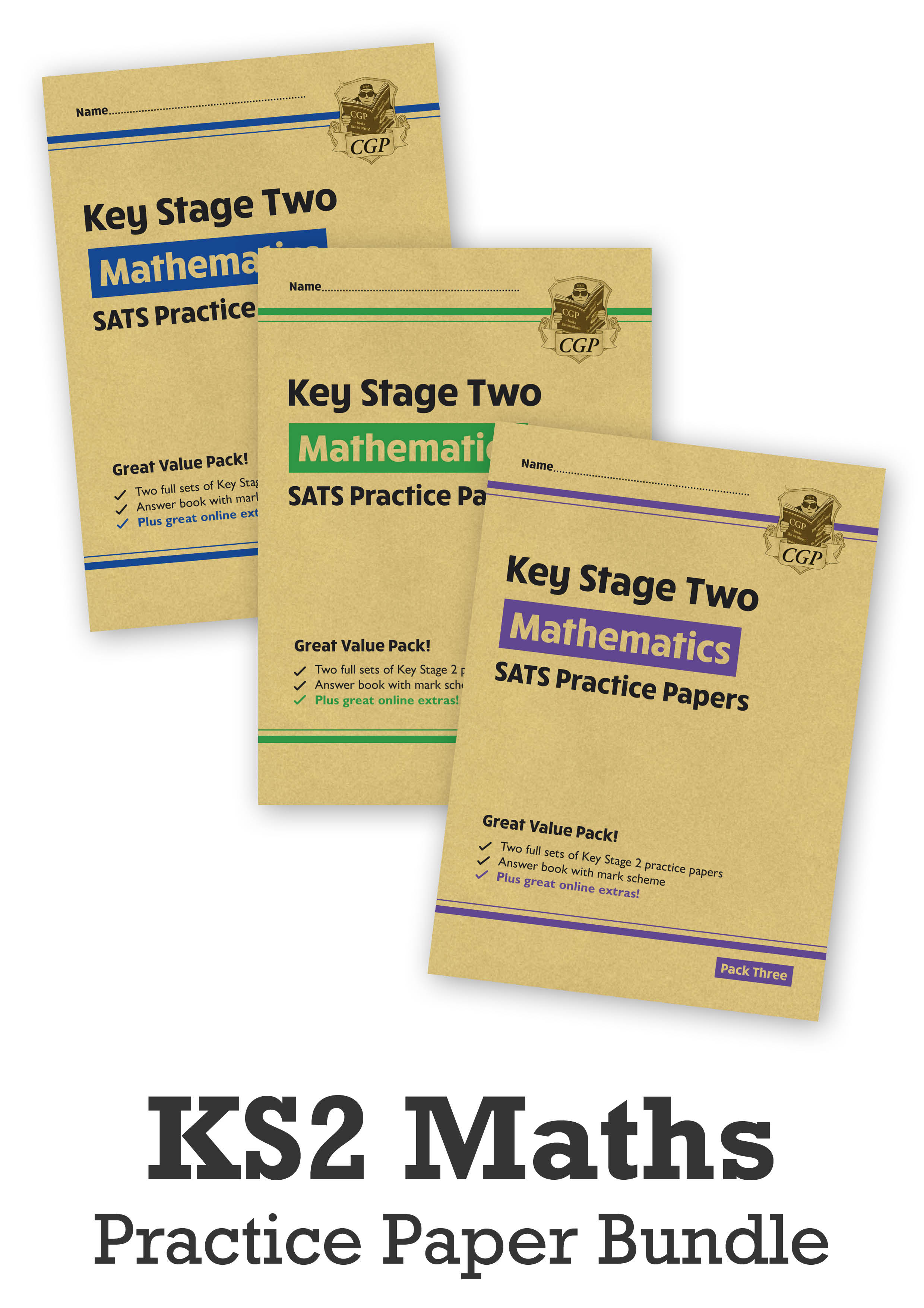 MHB3P24 - KS2 Maths SATS Practice Paper Bundle: Packs 1, 2 & 3 - for the 2021 tests (with Online Ext