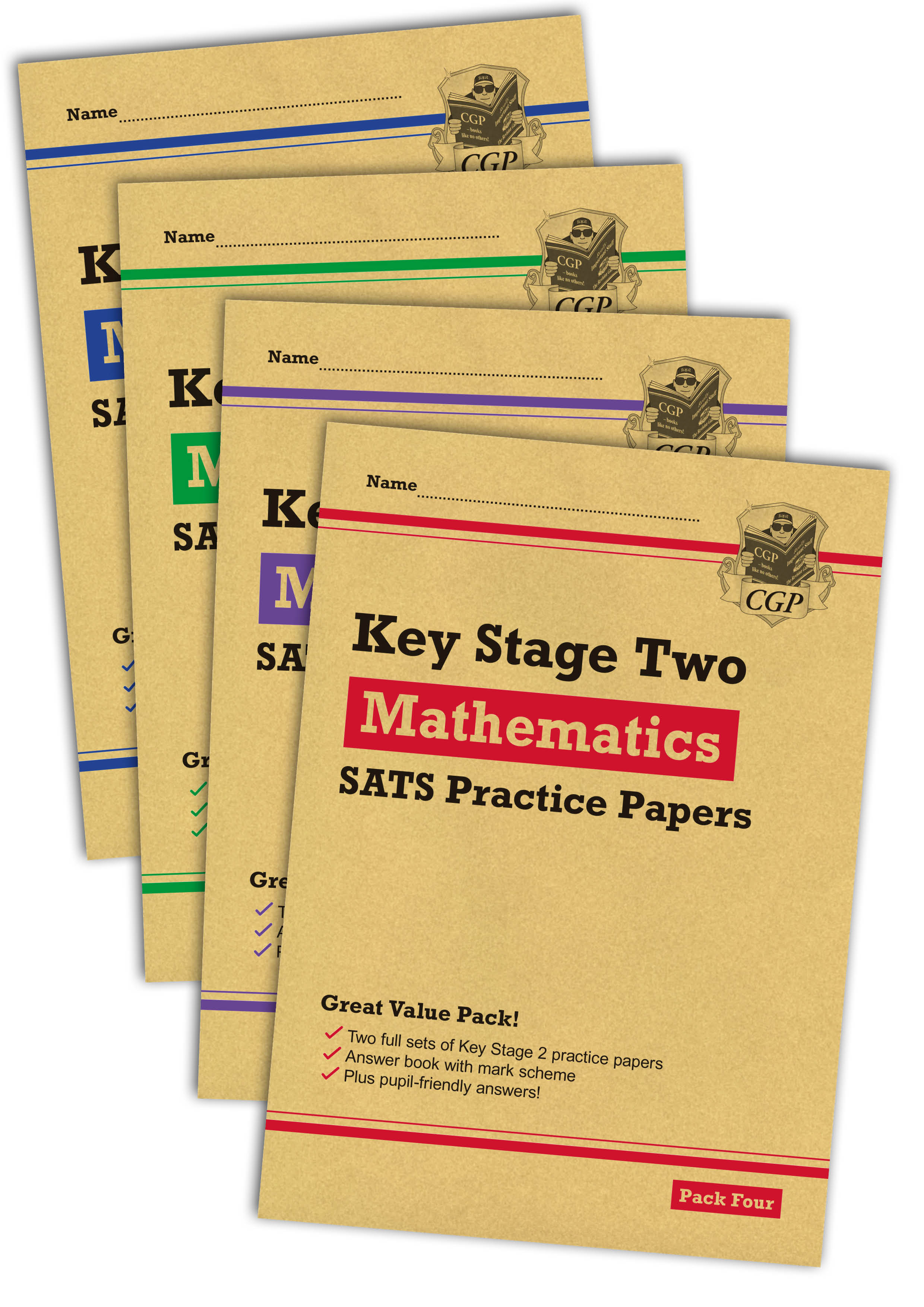 MHB4P23 - New KS2 Maths SATS Practice Paper Bundle: Packs 1, 2, 3 & 4 (for the 2019 tests)