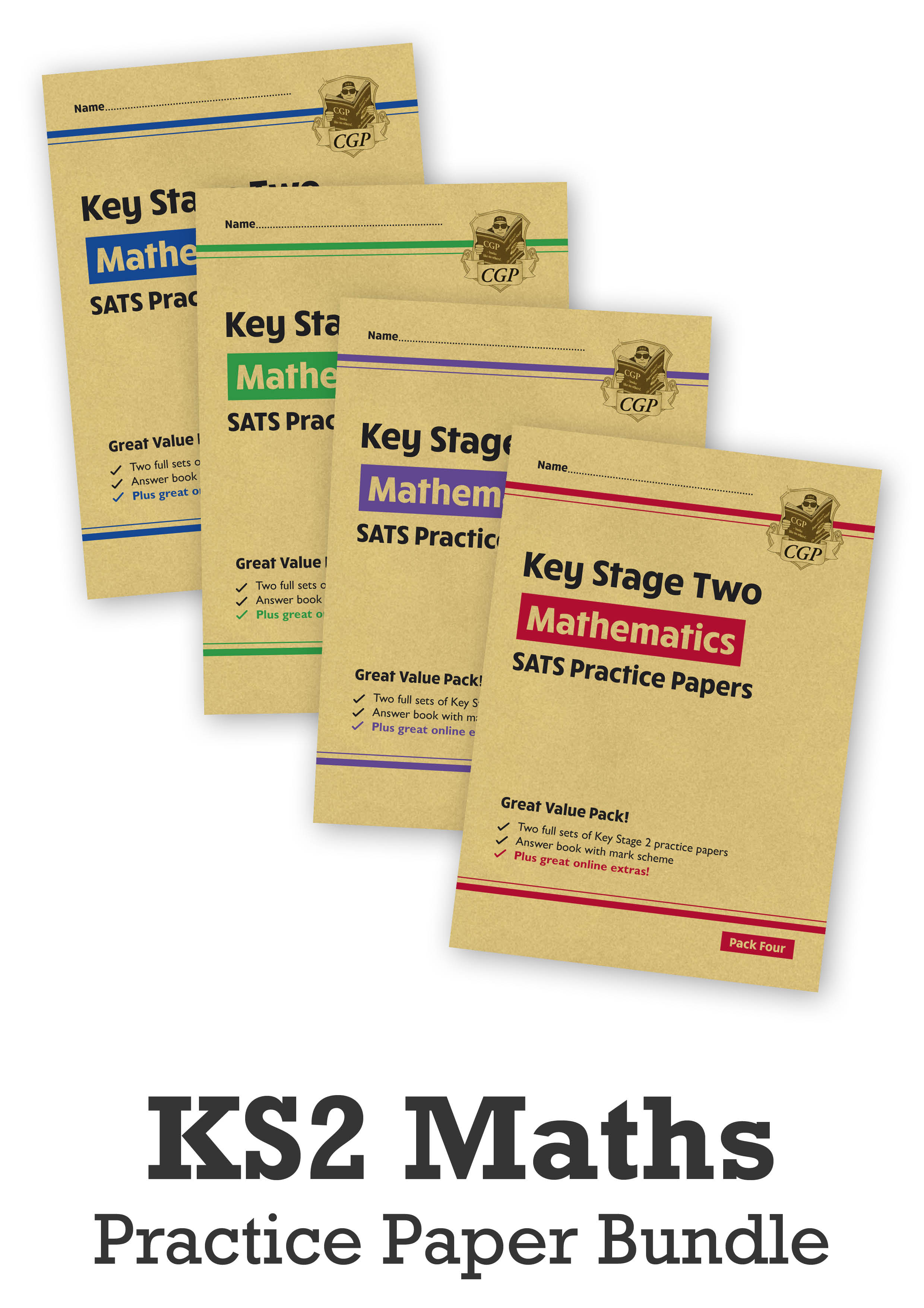 MHB4P24 - KS2 Maths SATS Practice Paper Bundle: Packs 1, 2, 3 & 4 - for the 2021 tests (with Online