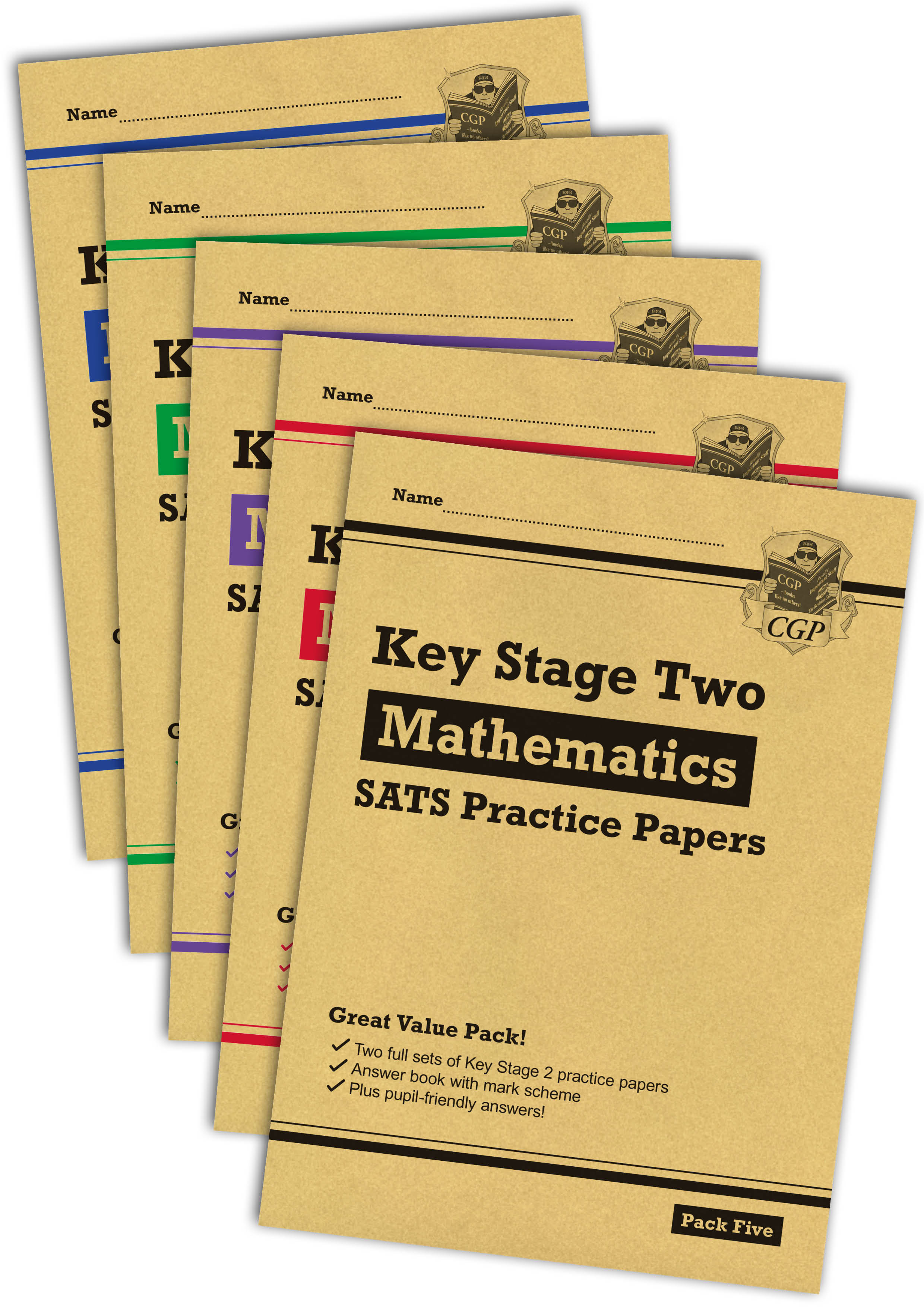 MHB5P23 - New KS2 Maths SATS Practice Paper Bundle: Packs 1, 2, 3, 4 & 5 (for the 2021 tests)