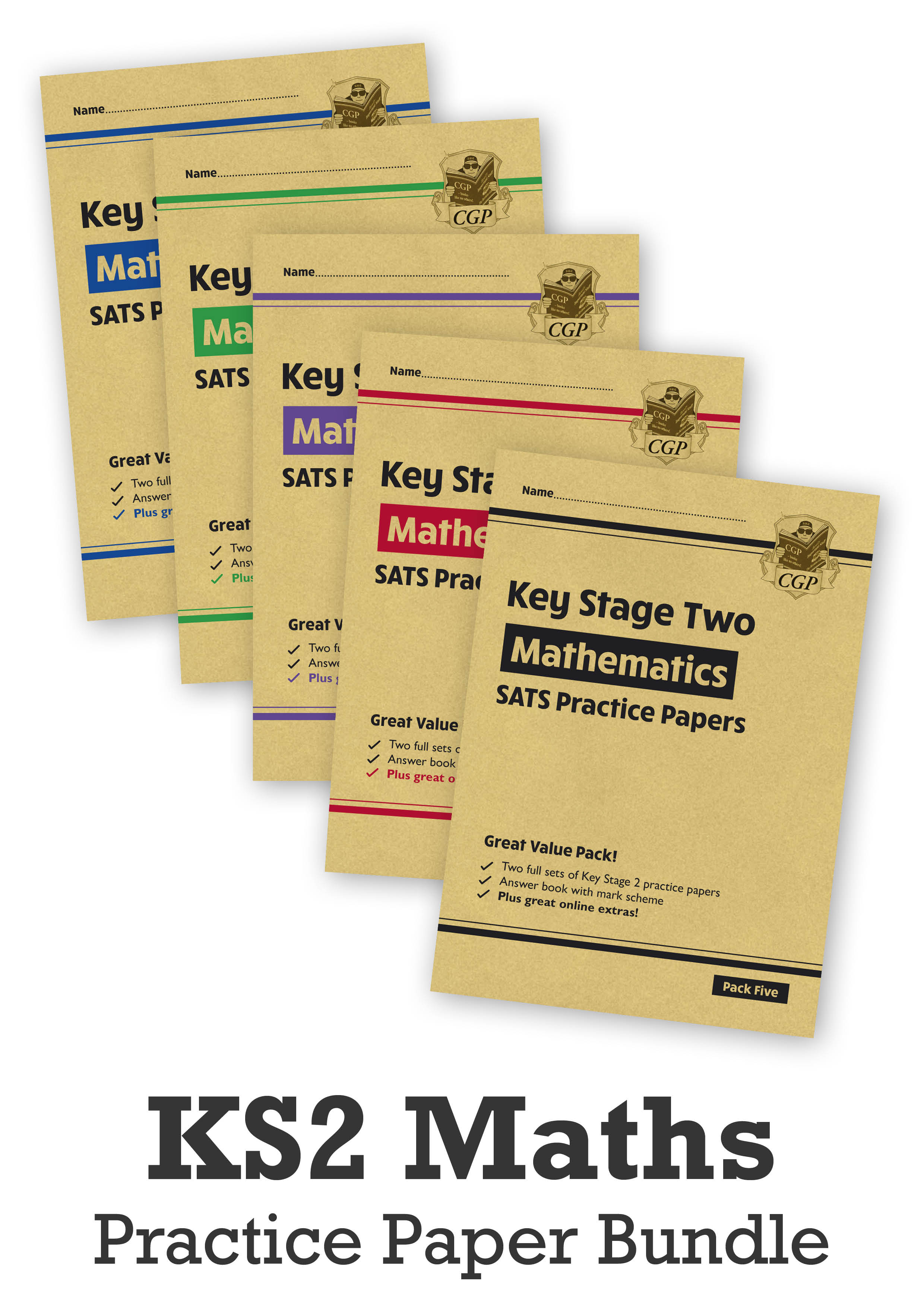MHB5P24 - KS2 Maths SATS Practice Paper Bundle: Packs 1, 2, 3, 4 & 5 - for the 2021 tests (with Onli
