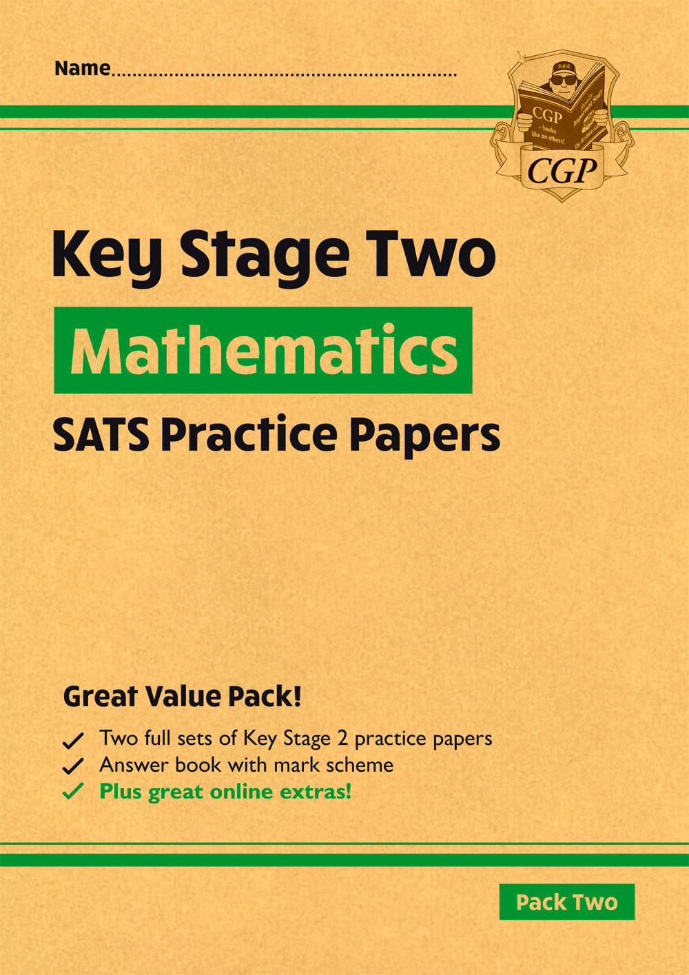 MHGP28 - New KS2 Maths SATS Practice Papers: Pack 2 - for the 2021 tests (with free Online Extras)