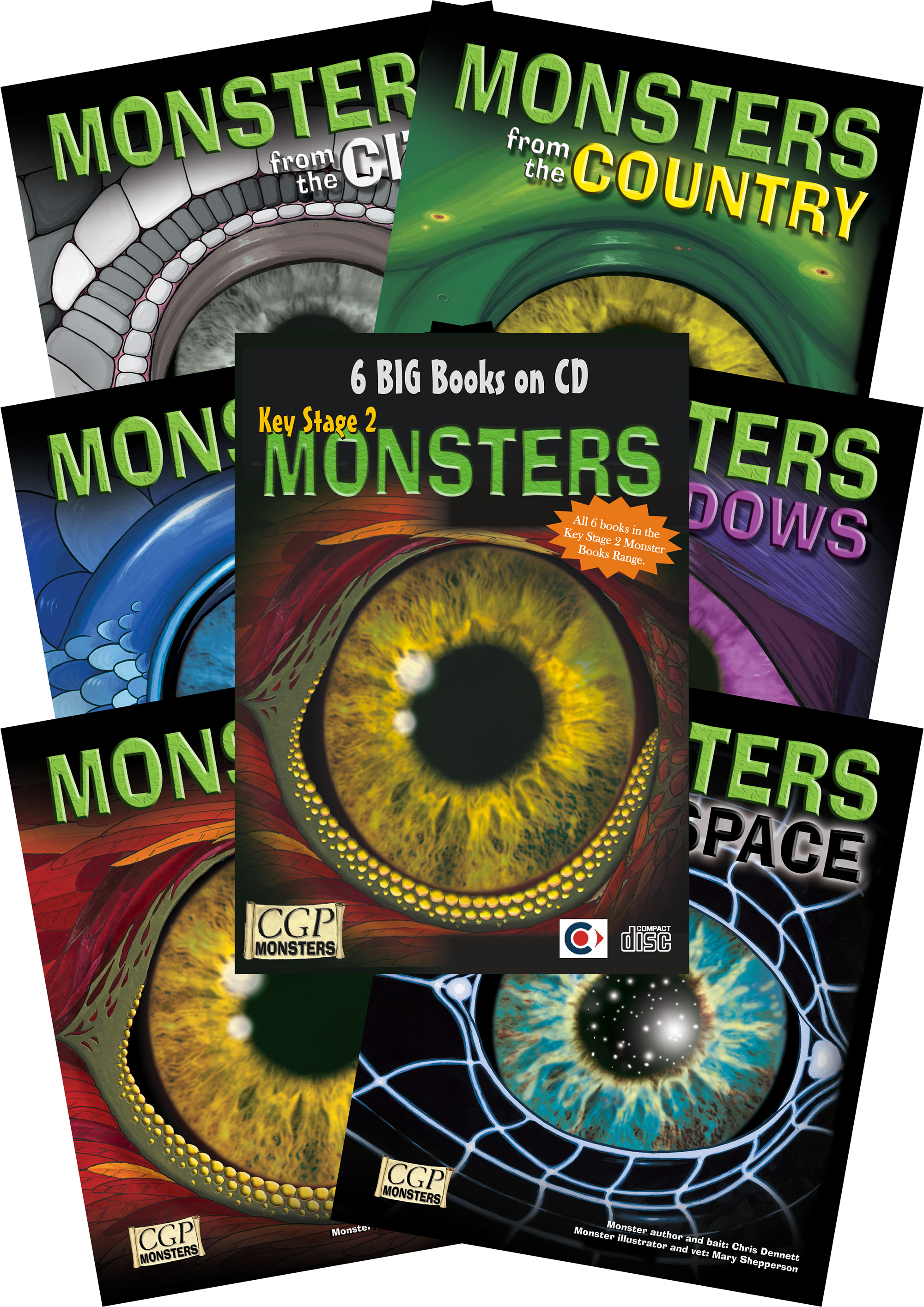 MNC2 - KS2 Monsters Interactive Independent Reading Pack + CDROM