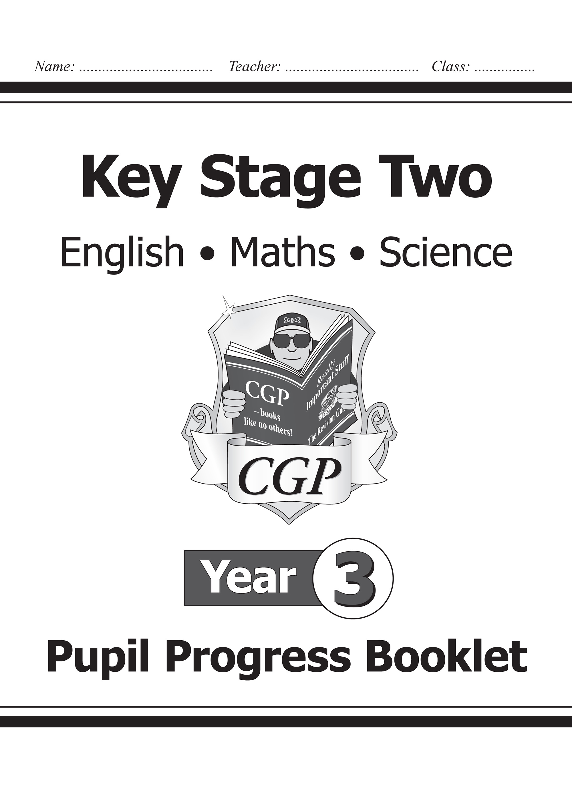 SME3P21 - KS2 Pupil Progress Booklet for English, Maths and Science - Year 3