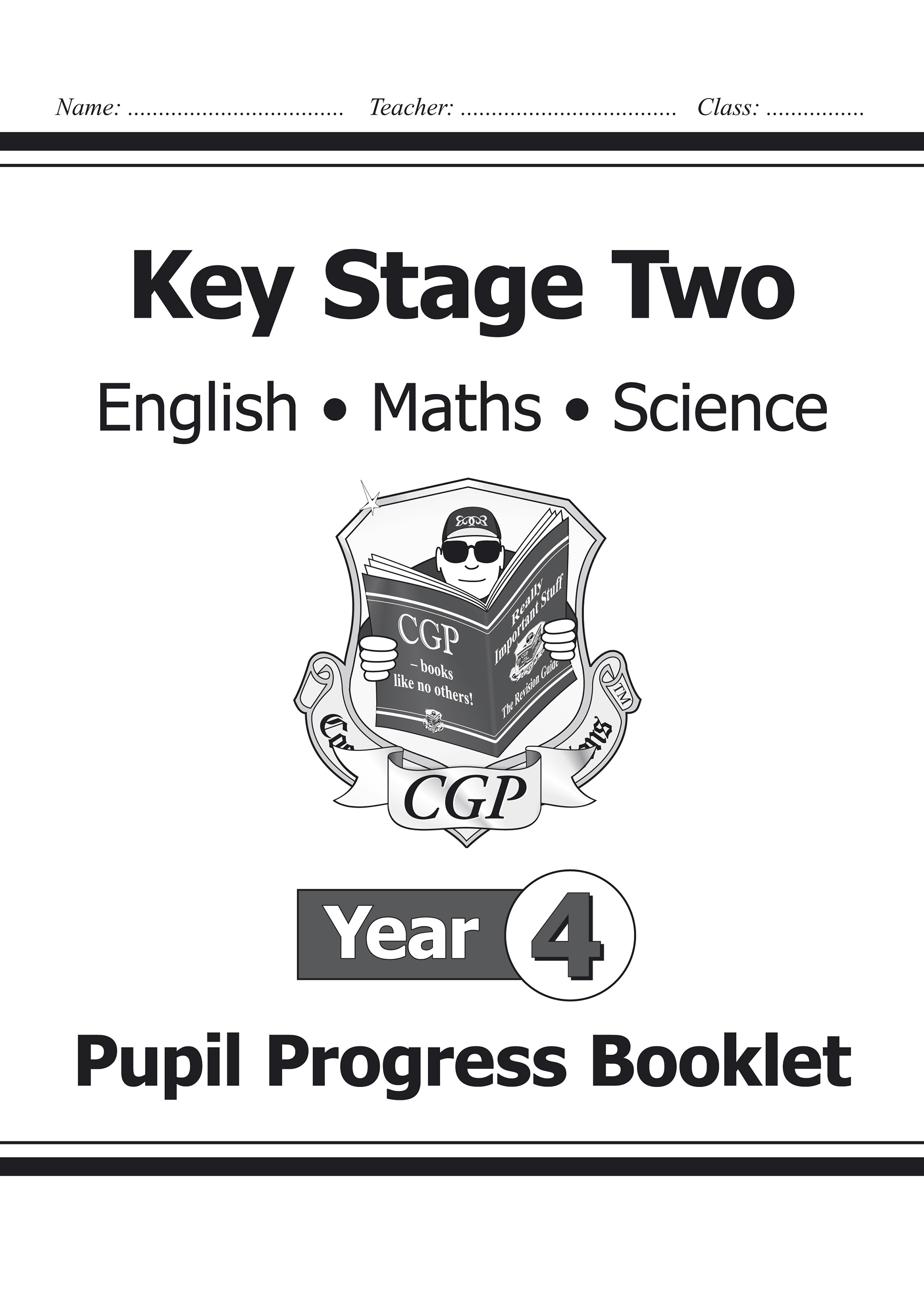SME4P21 - KS2 Pupil Progress Booklet for English, Maths and Science - Year 4