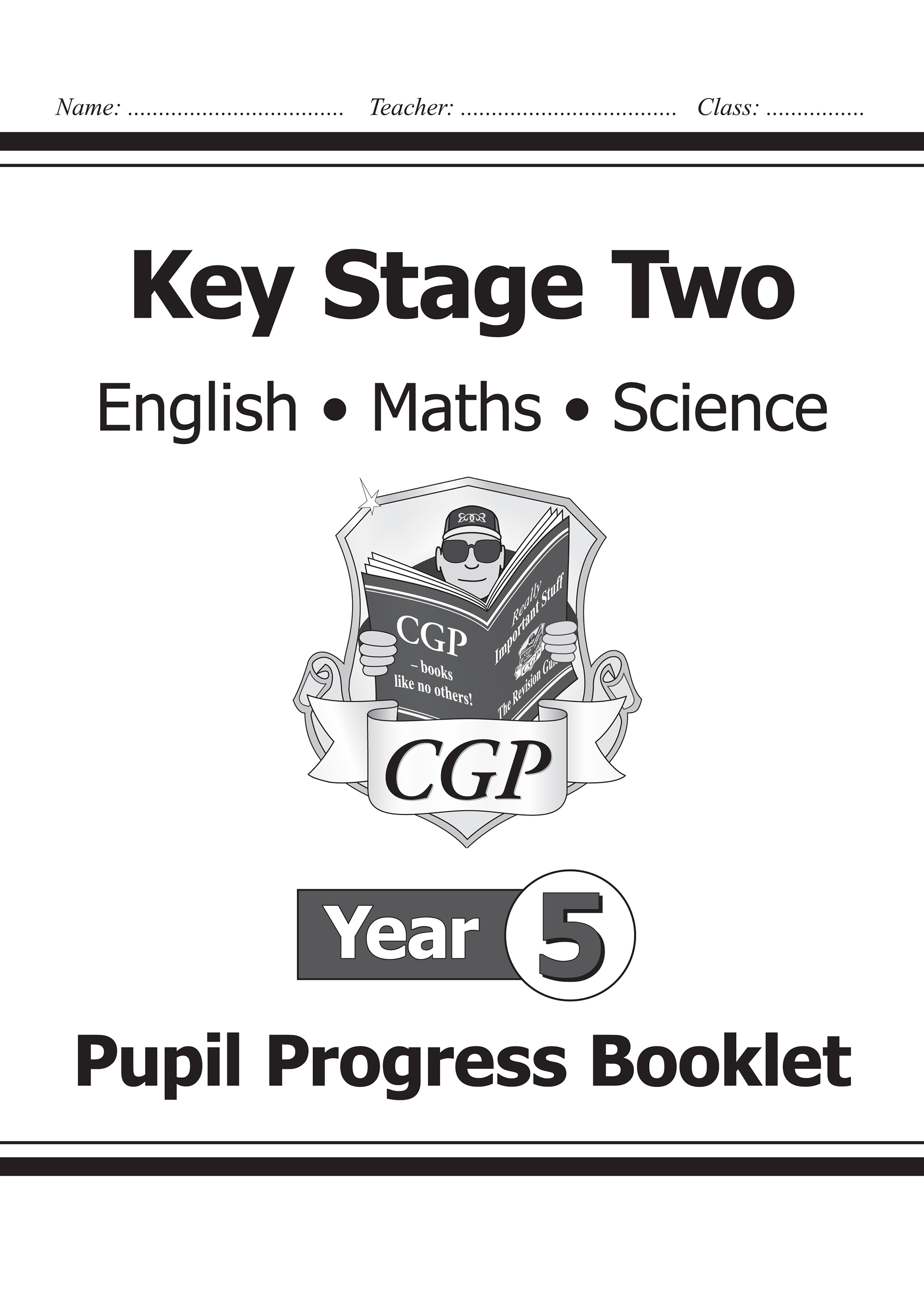 SME5P21 - KS2 Pupil Progress Booklet for English, Maths and Science - Year 5