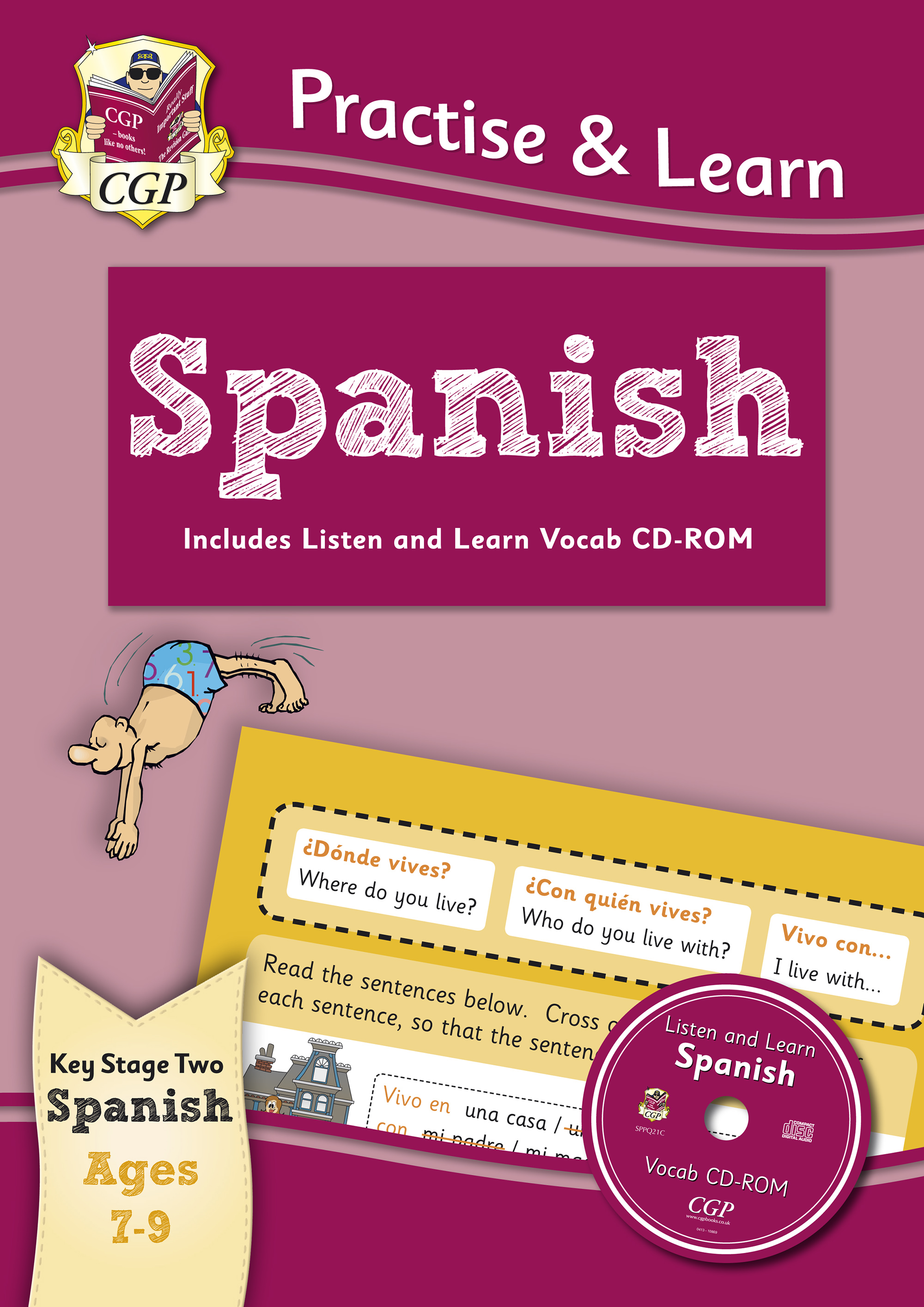SPP4Q22 - Practise & Learn: Spanish for Ages 7-9 - with vocab CD-ROM