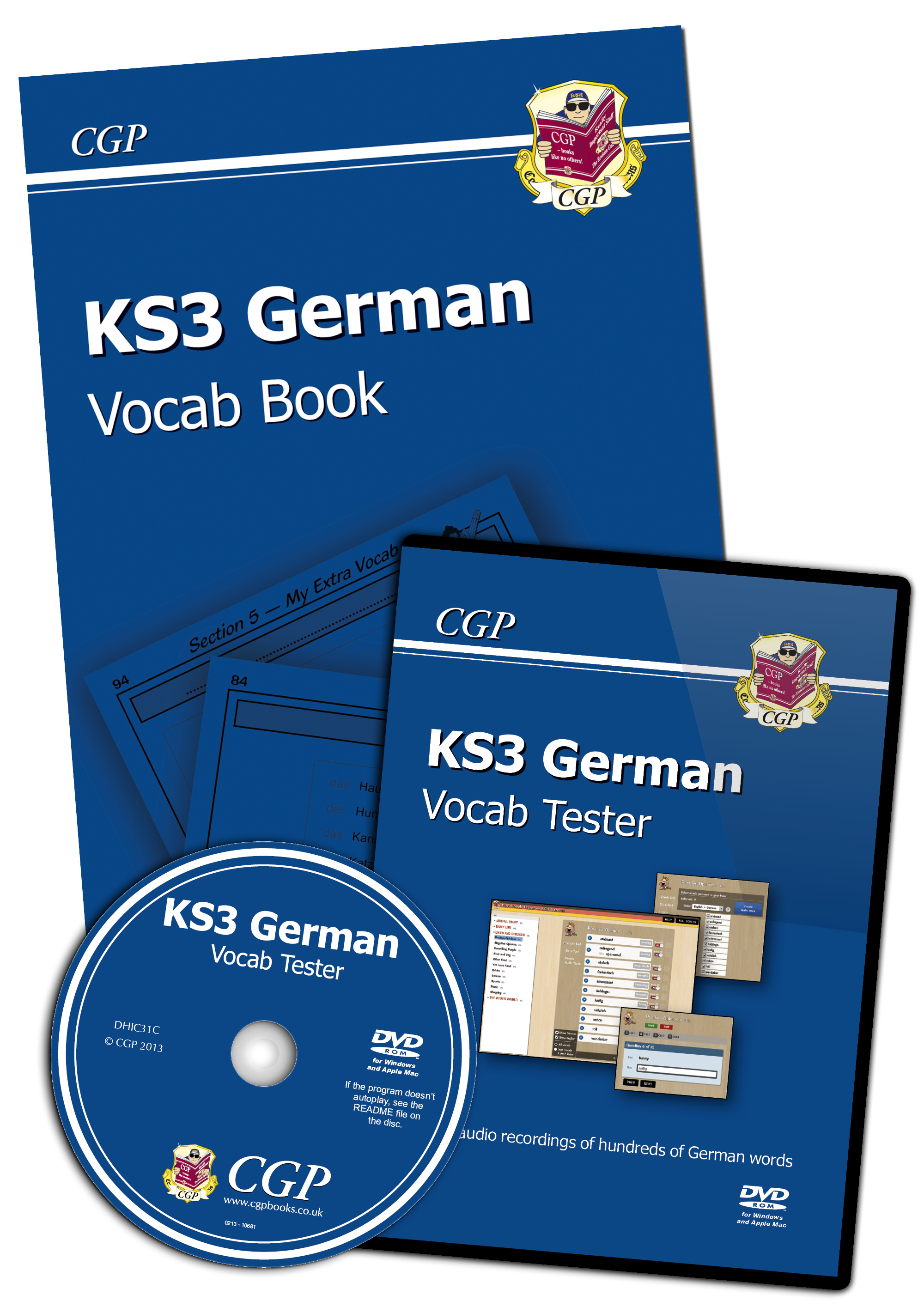 DHIC31 - KS3 German Interactive Vocab Tester - DVD-ROM and Vocab Book
