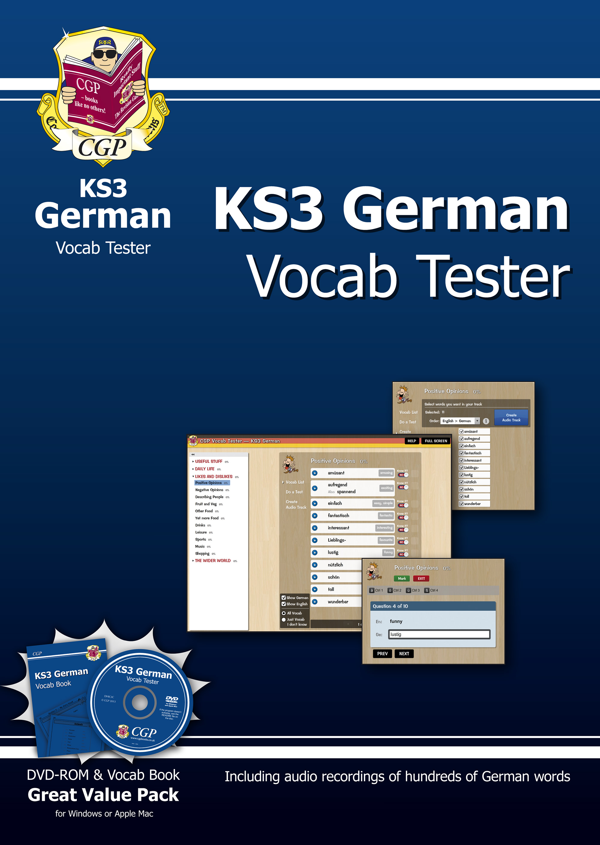 DHIC31B - KS3 German Interactive Vocab Tester - DVD-ROM and Vocab Book