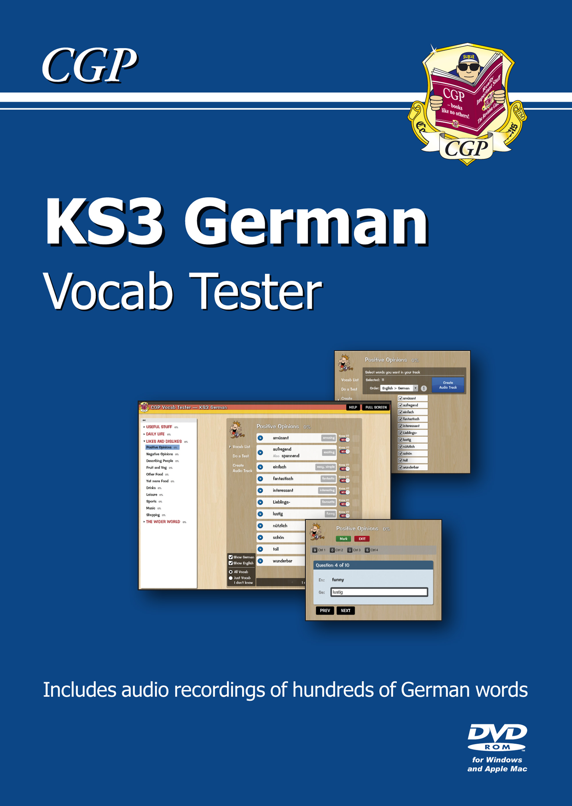 DHIC31C - KS3 German Interactive Vocab Tester DVD-ROM