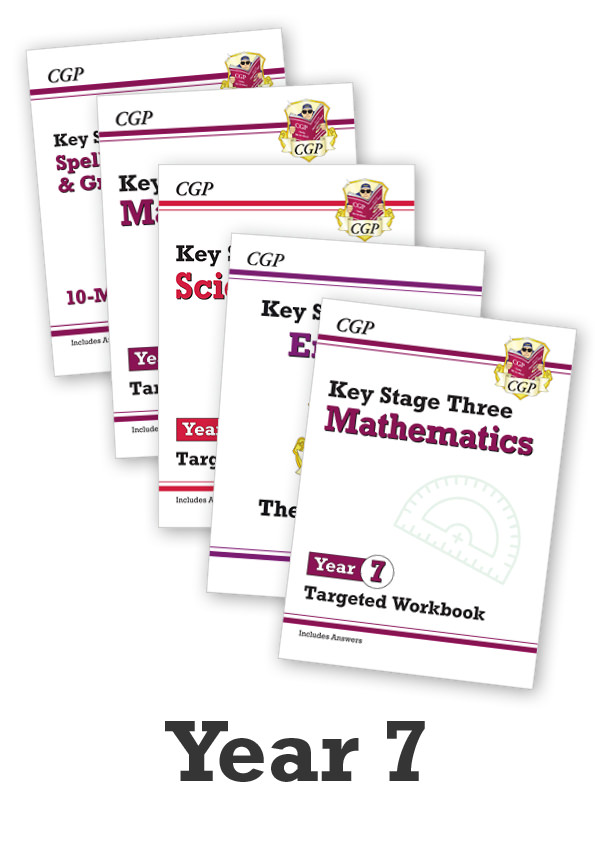 EM7CUB31 - Year 7 Catch-Up Essentials: Workbook Bundle - Ages 11-12