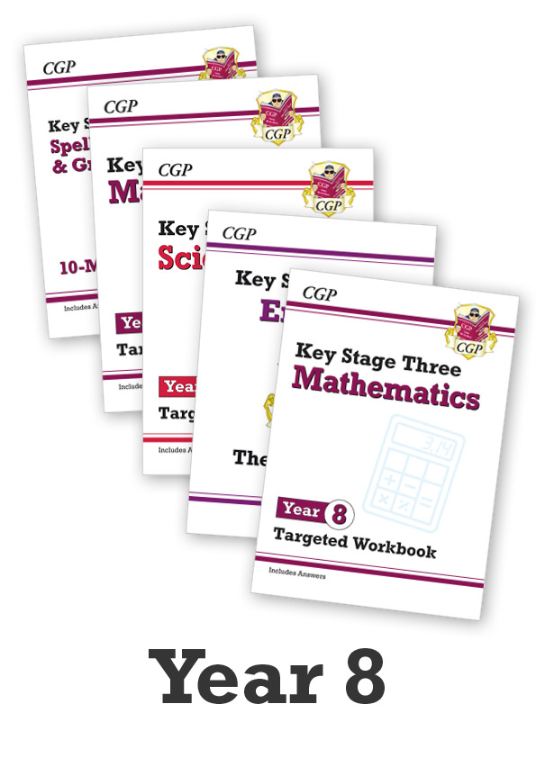 EM8CUB31 - Year 8 Home Learning Essentials: Workbook Bundle - Ages 12-13